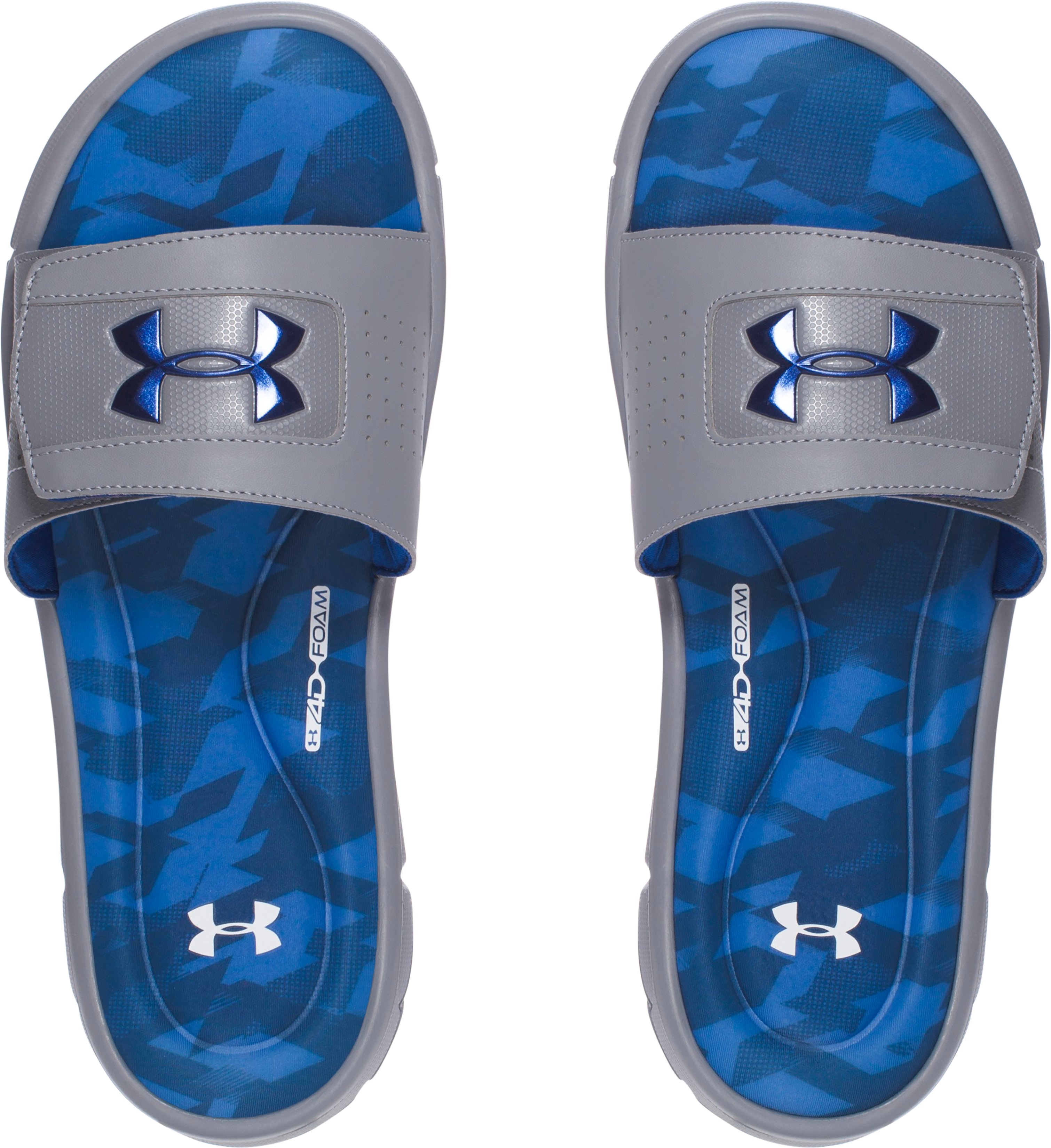 Men's UA Ignite Assault 2.0 V Slides, Squadron, undefined