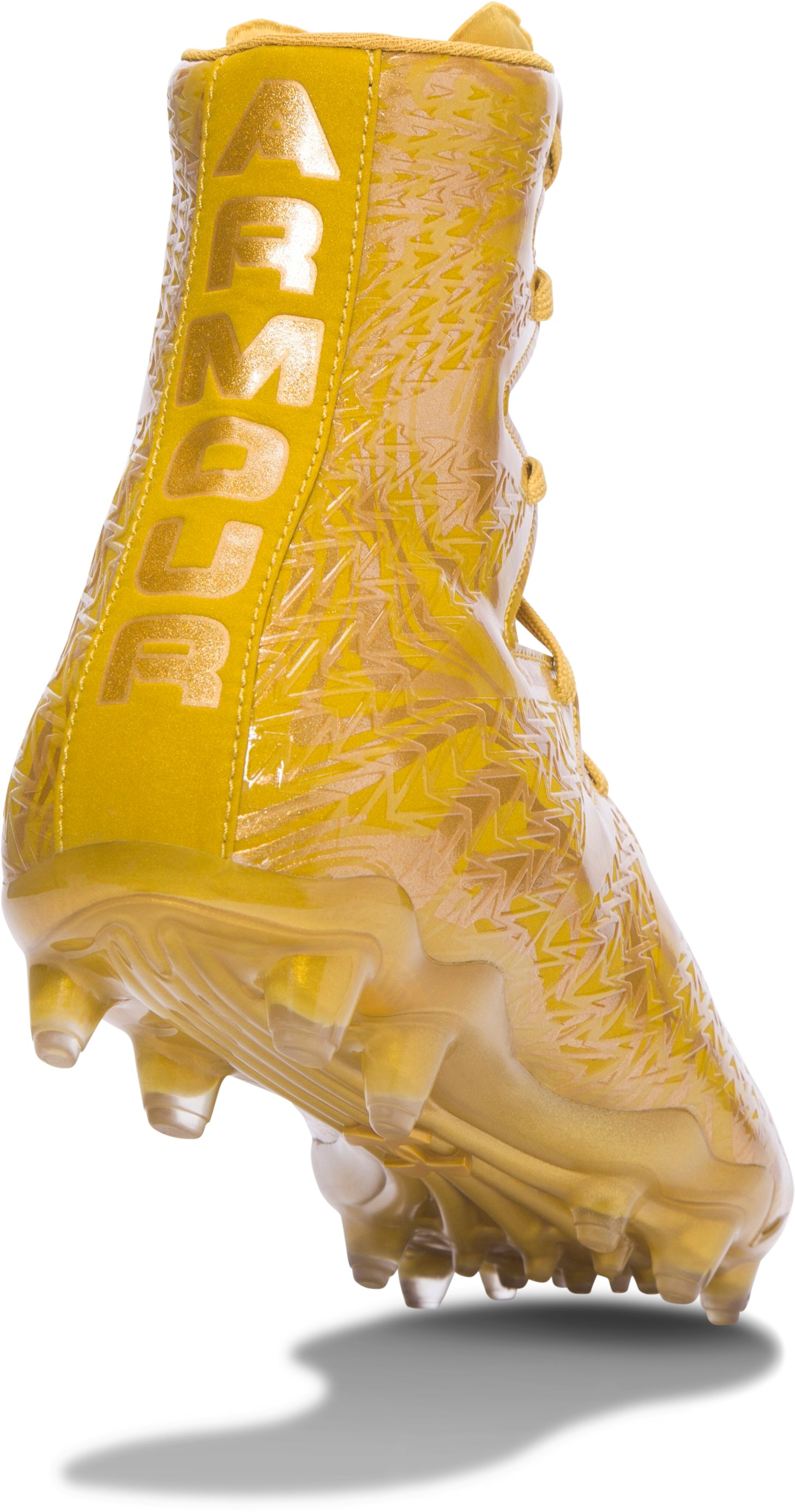 Men's UA Highlight Lux MC Football Cleats, Gold Rush, undefined