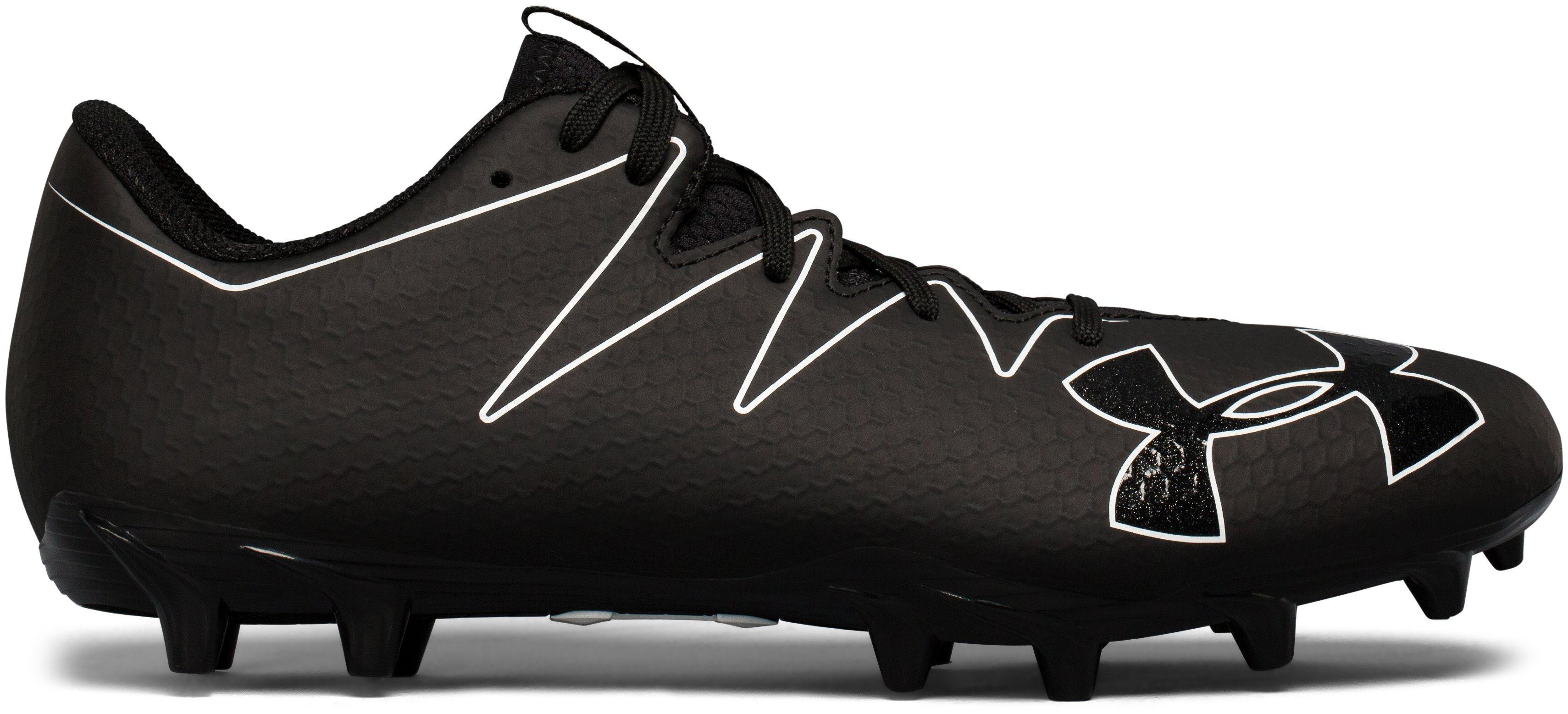 Men's UA Nitro Low MC Football Cleats, Black , zoomed image
