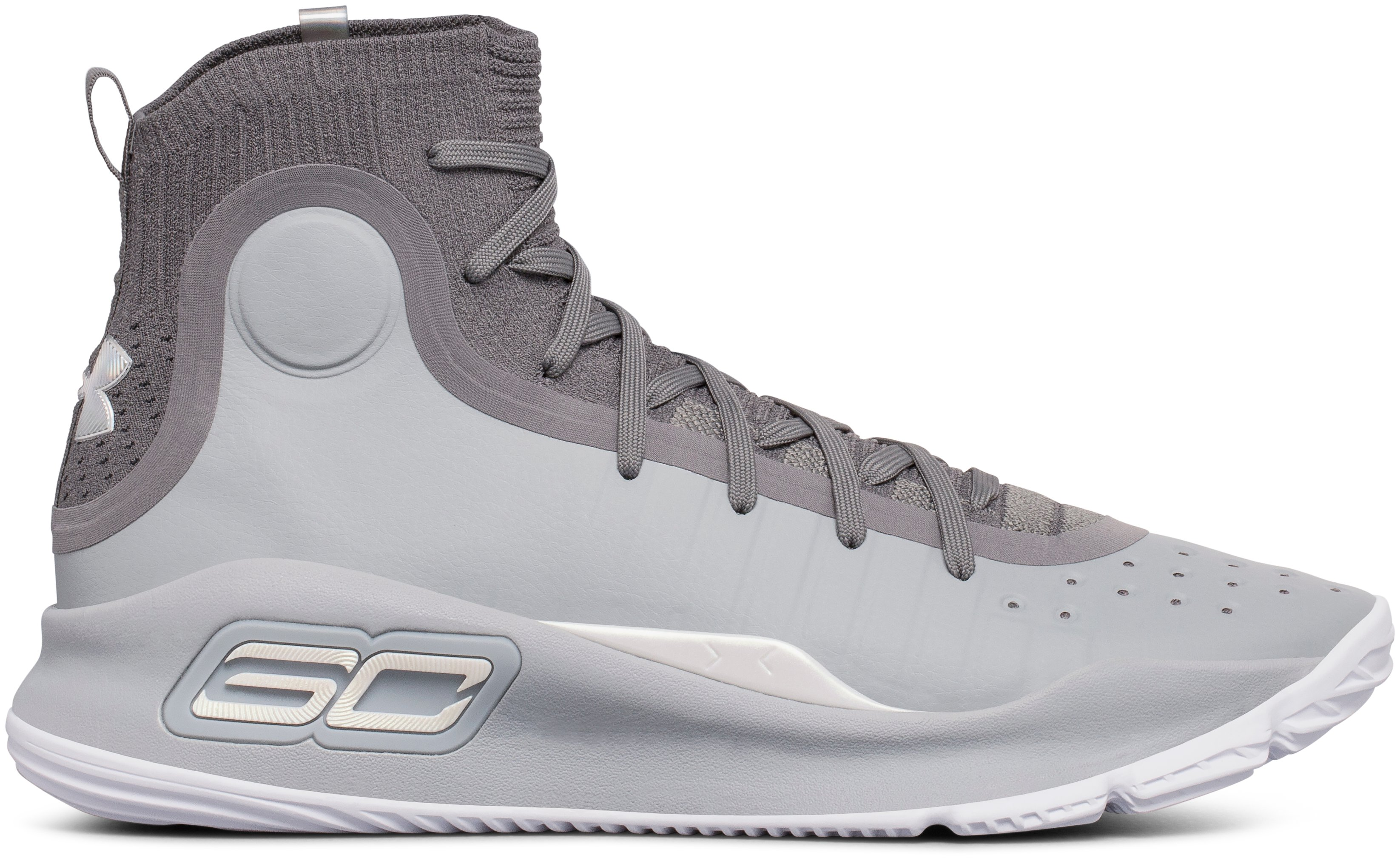 Men's UA Curry 4 Basketball Shoes, OVERCAST GRAY