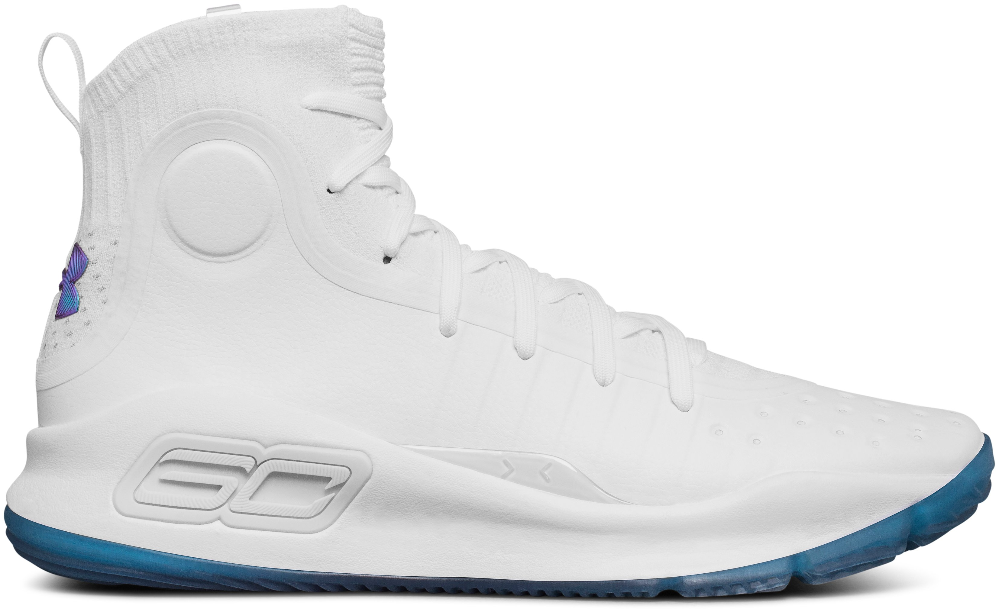 UA Curry 4, White, zoomed