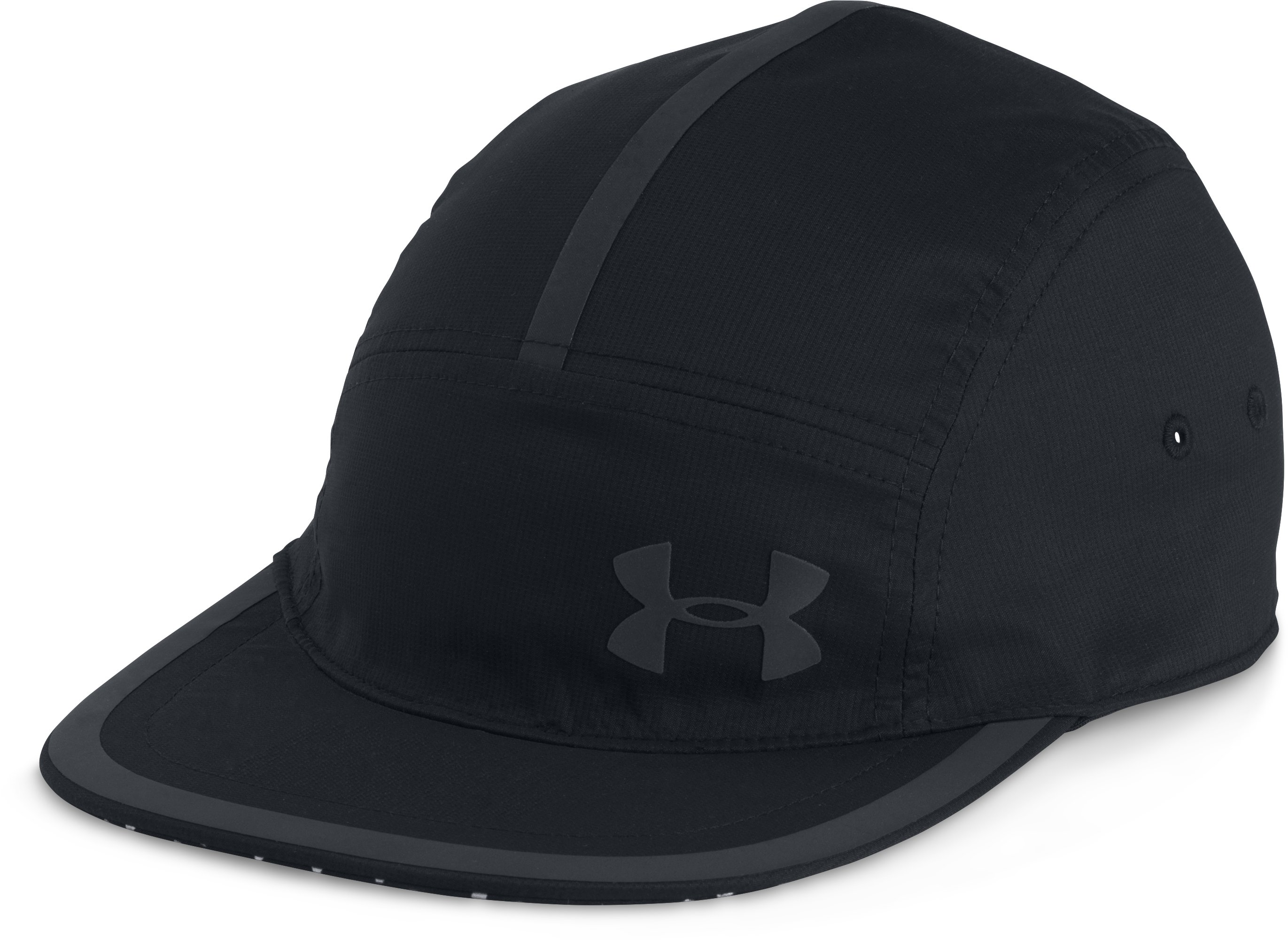 Men's UA Threadborne™ Run Crew Cap, Black , undefined