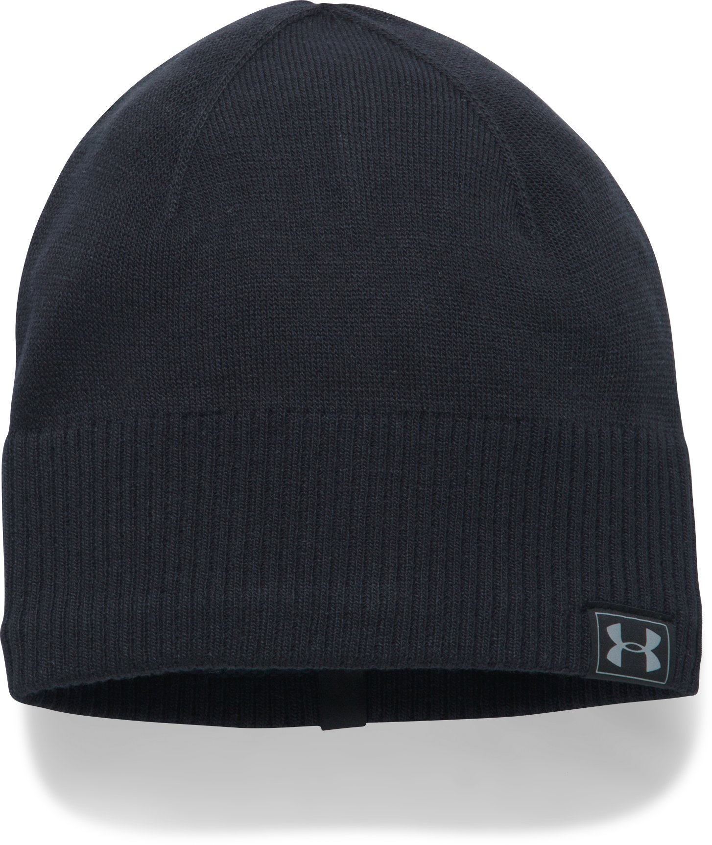 Men's ColdGear® Reactor Knit Beanie, Black , undefined
