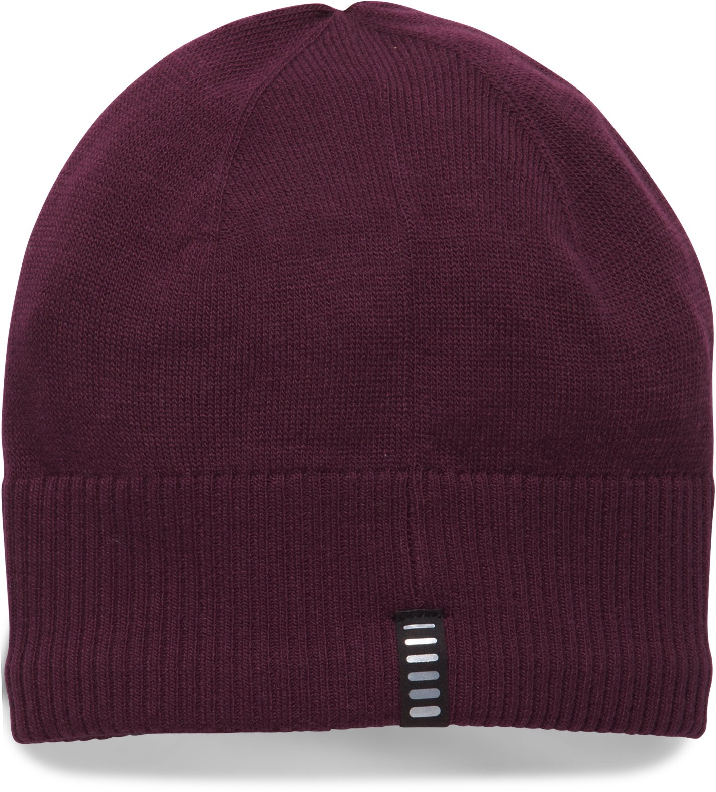 Men's ColdGear® Reactor Knit Beanie, RAISIN RED, undefined