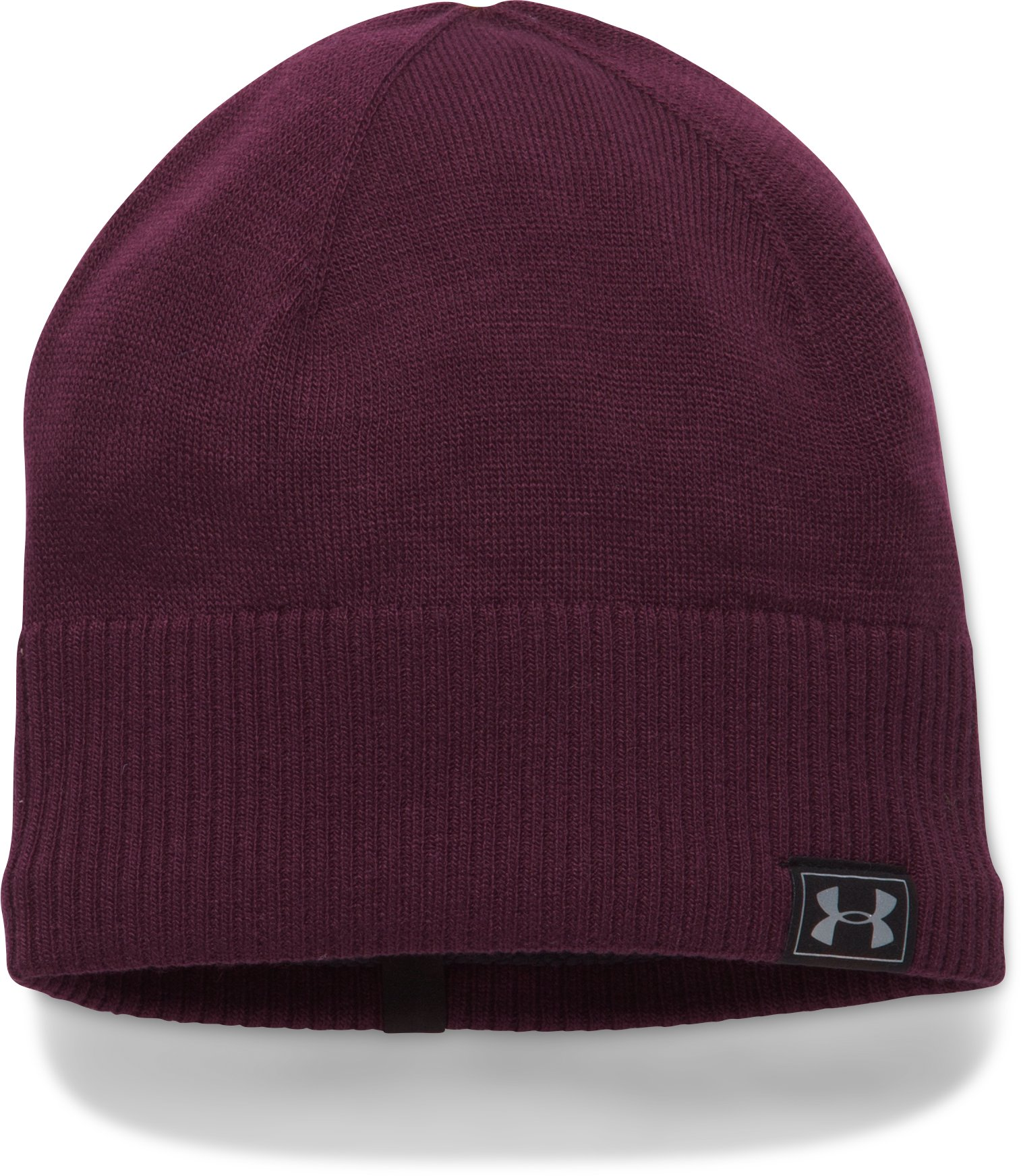 Men's ColdGear® Reactor Knit Beanie, RAISIN RED