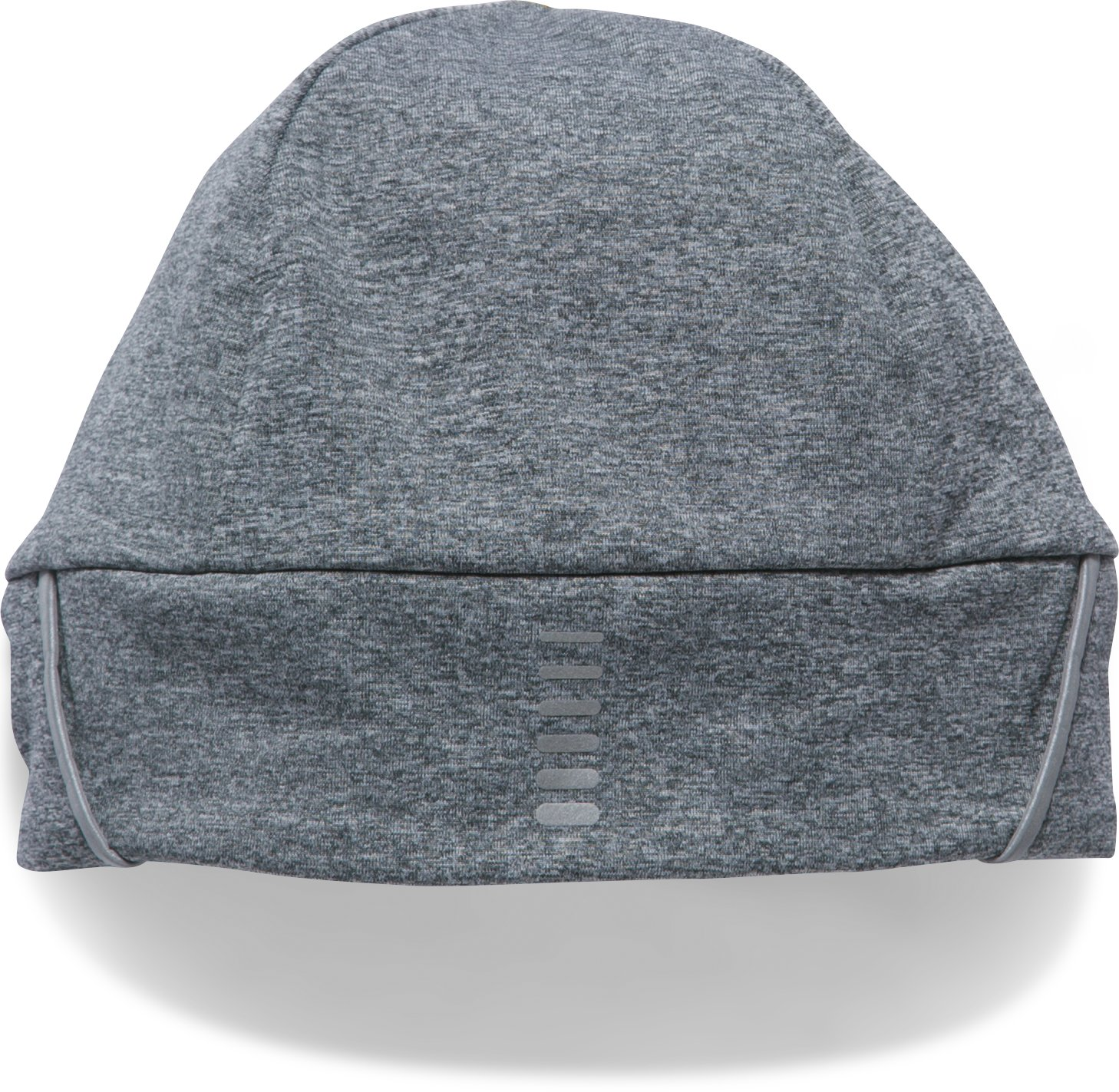 Men's ColdGear® Reactor Earbud Beanie, STEALTH GRAY MEDIUM HEATHER,