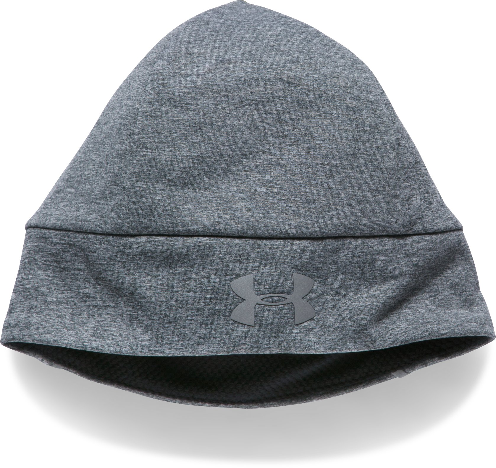 Men's ColdGear® Reactor Earbud Beanie, STEALTH GRAY MEDIUM HEATHER