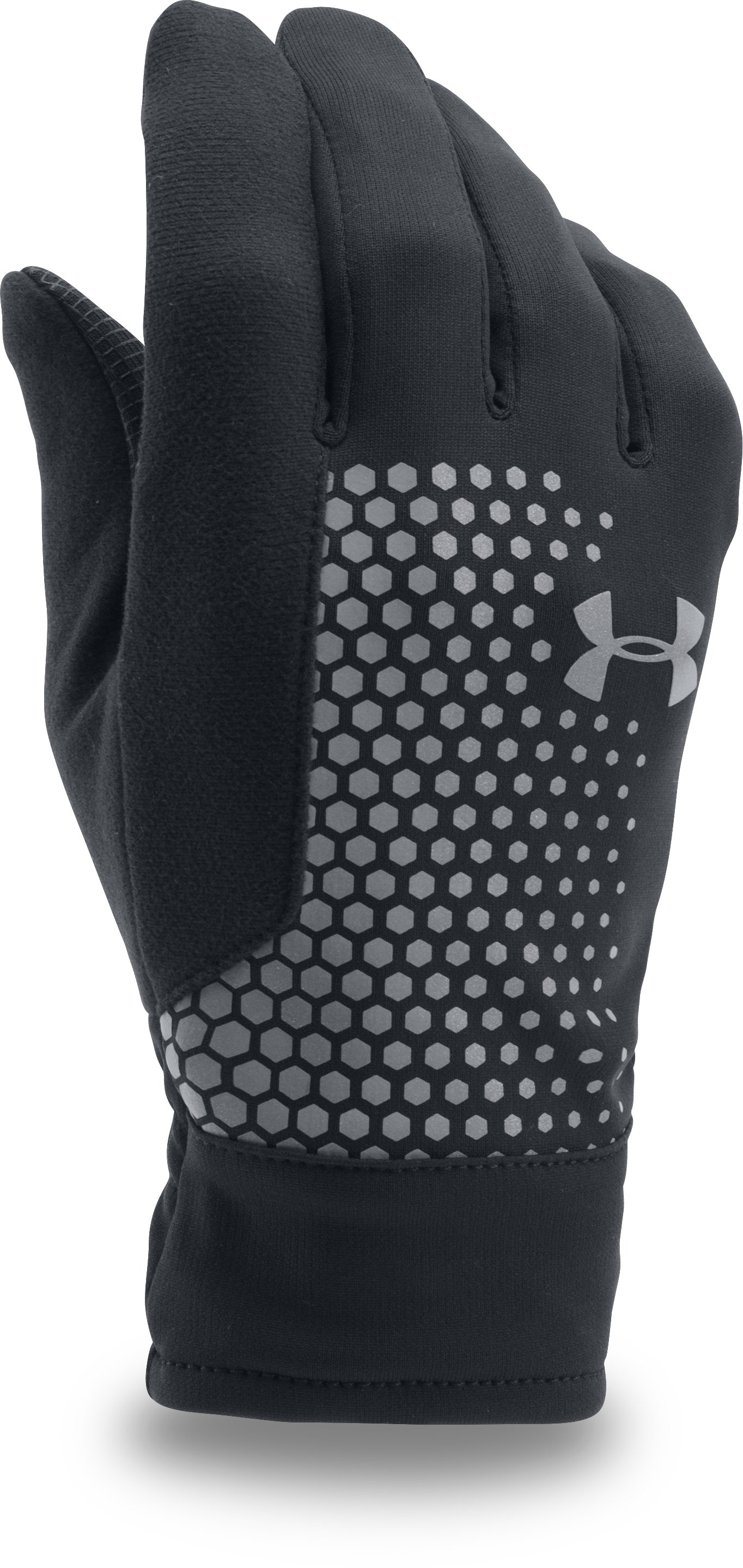Men's UA Threadborne™ Run Gloves, Black