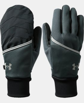 PRO PICK Men's UA Convertible ColdGear® Reactor Run Gloves  3 Colors $39.99