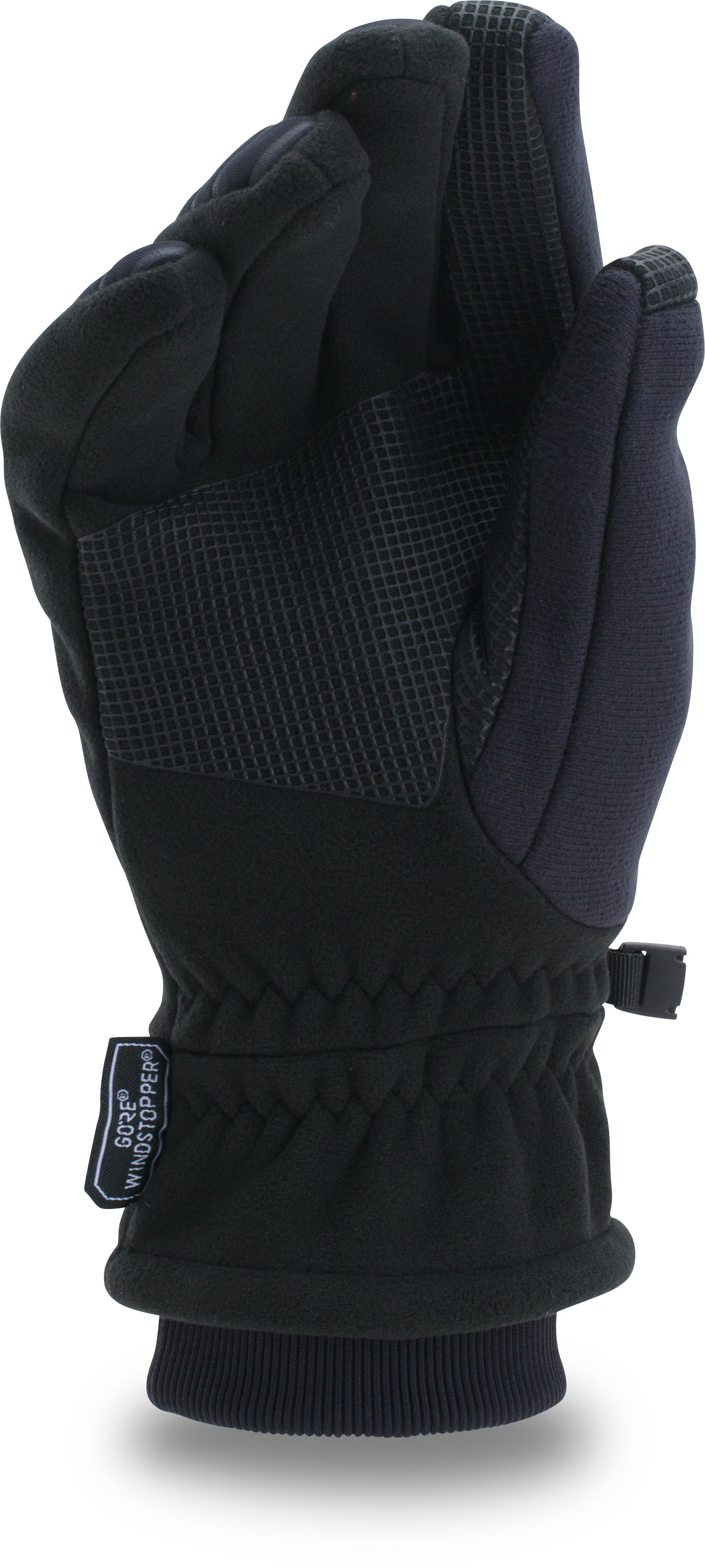 Men's UA GORE® WINDSTOPPER® Run 2.0 Gloves, Black , undefined