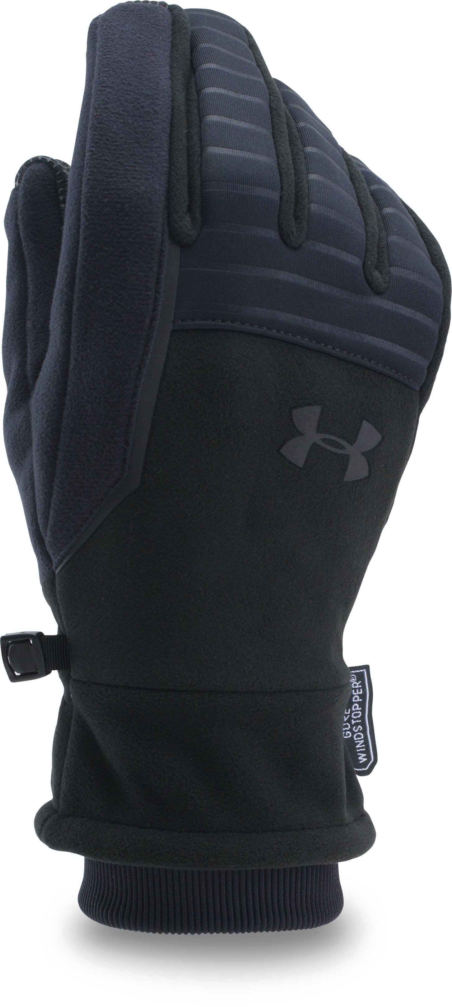 Men's UA GORE® WINDSTOPPER® Run 2.0 Gloves, Black
