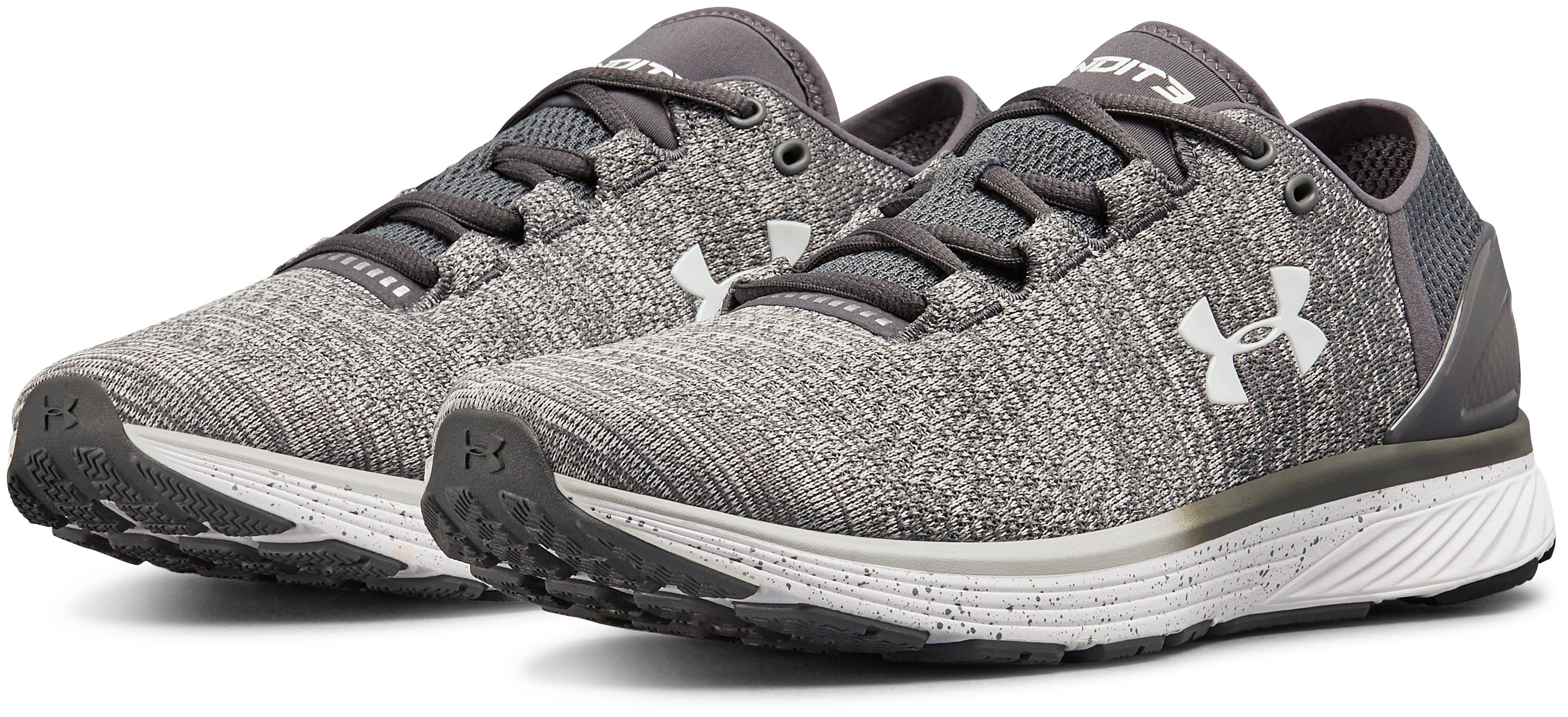 Men's UA Charged Bandit 3 – Wide (2E) Running Shoes, GLACIER GRAY,