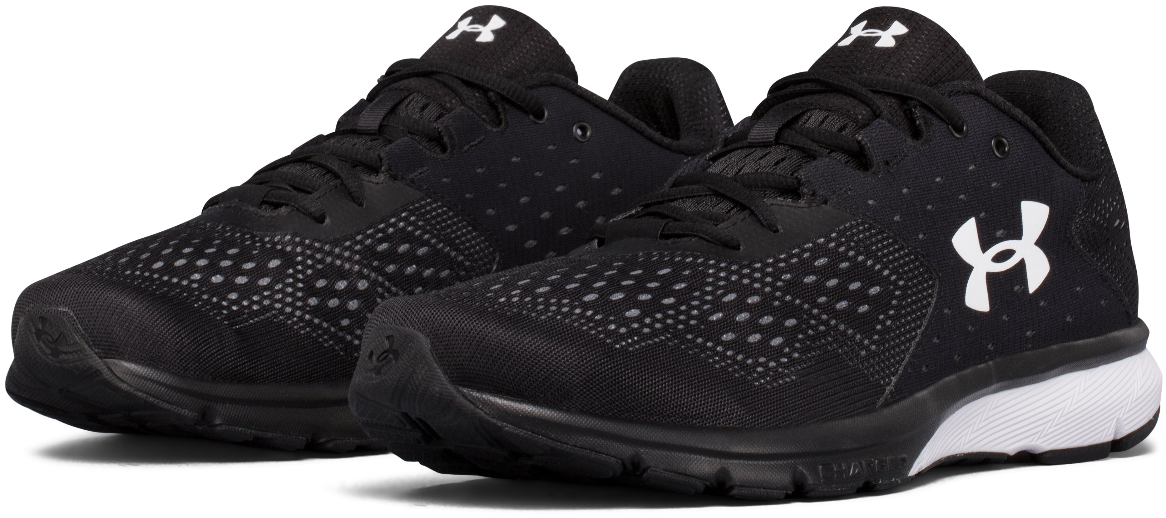 Men's UA Charged Rebel Running Shoes, Black ,