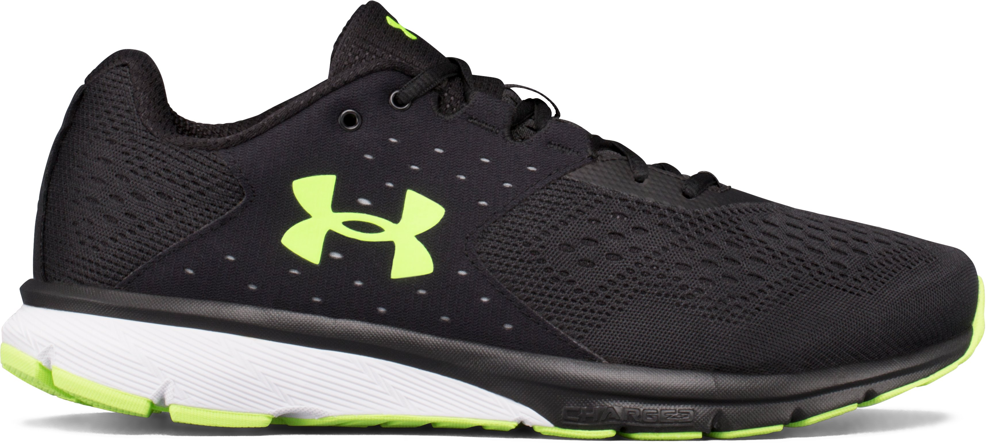 Men's UA Charged Rebel Running Shoes, Black , undefined