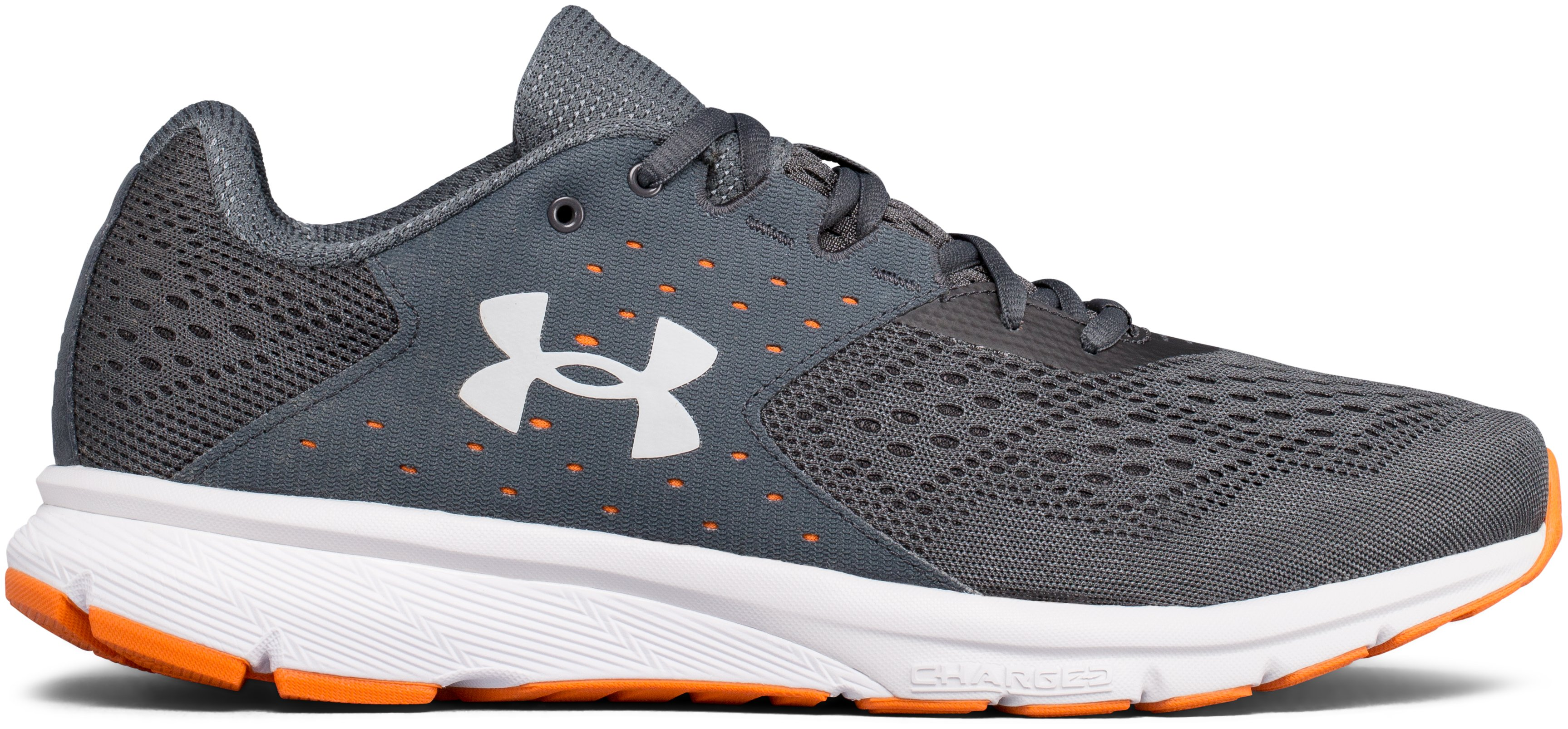 Men's UA Charged Rebel Running Shoes, STEALTH GRAY