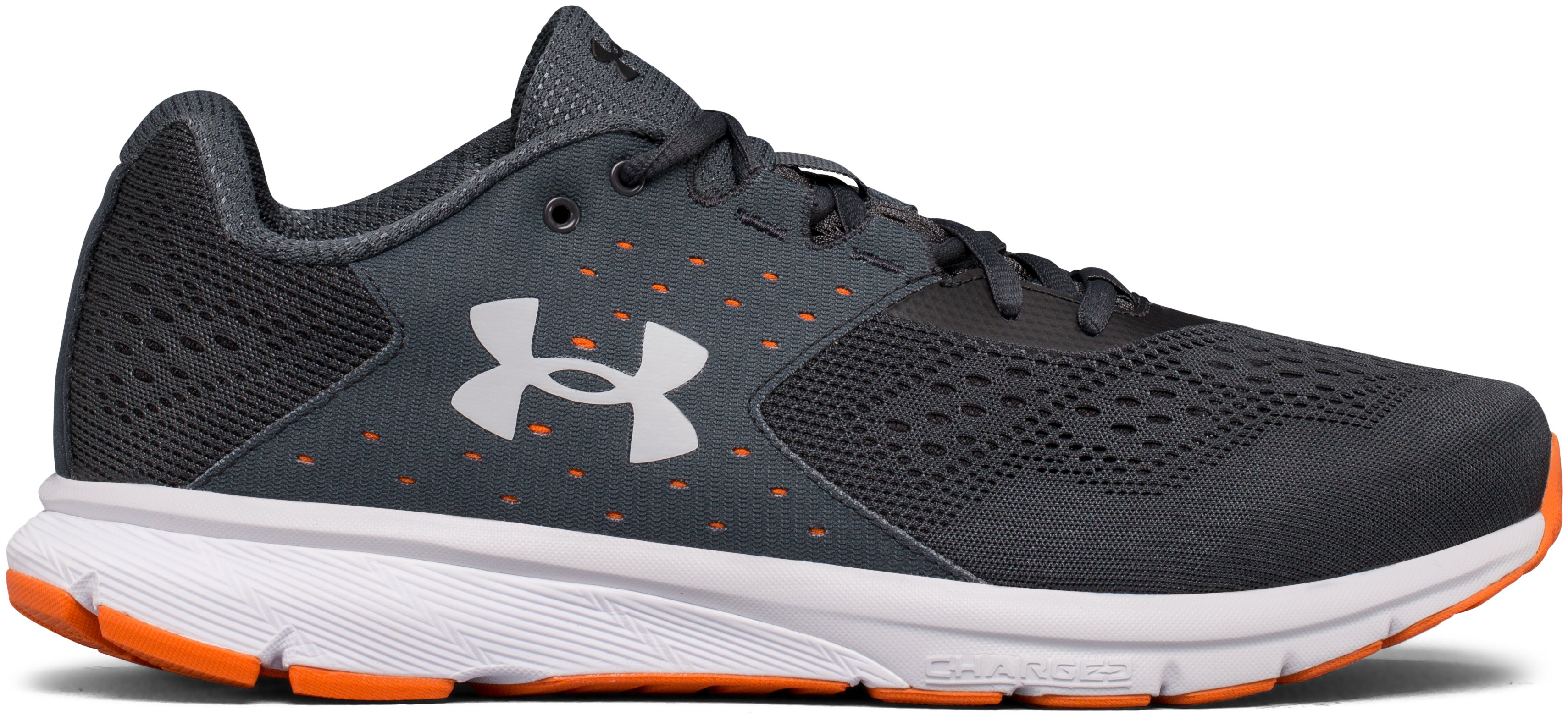 Men's UA Charged Rebel – 2E Running Shoes, STEALTH GRAY, zoomed image