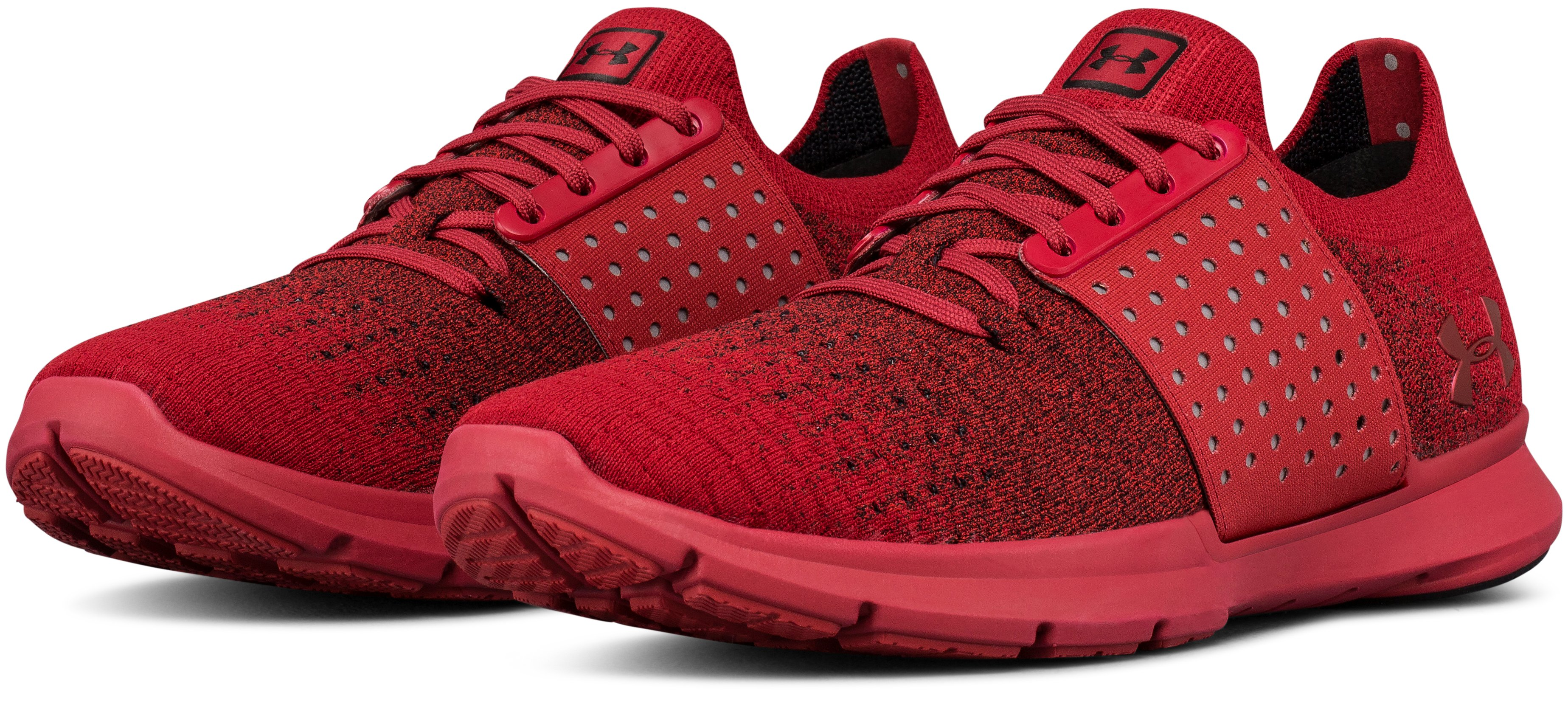 Men's UA Threadborne Slingwrap Fade Lifestyle Shoes, SPICE RED,