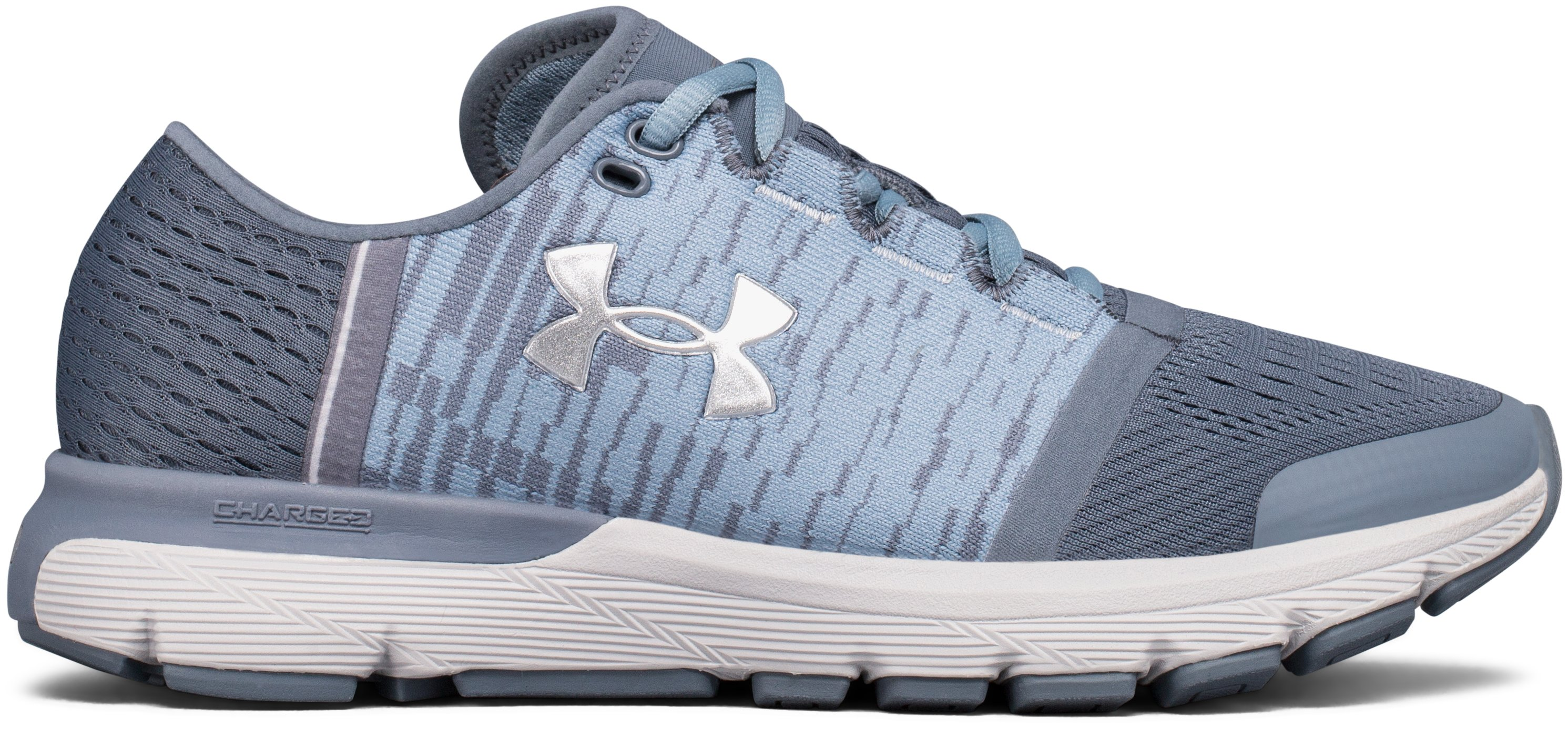 Women's UA SpeedForm® Gemini 3 Graphic Running Shoes, 360 degree view