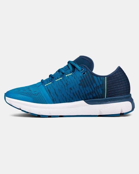 Women's UA SpeedForm® Gemini 3 Graphic Running Shoes, Blue, pdpMainDesktop image number 1