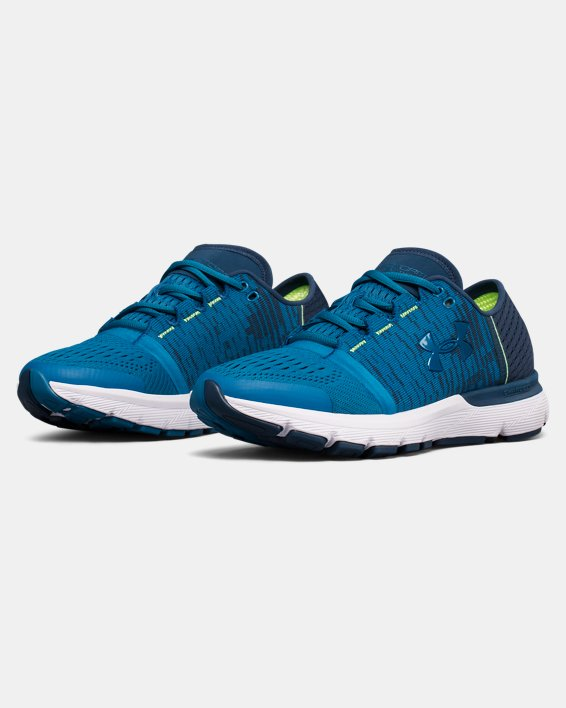 Women's UA SpeedForm® Gemini 3 Graphic Running Shoes, Blue, pdpMainDesktop image number 4