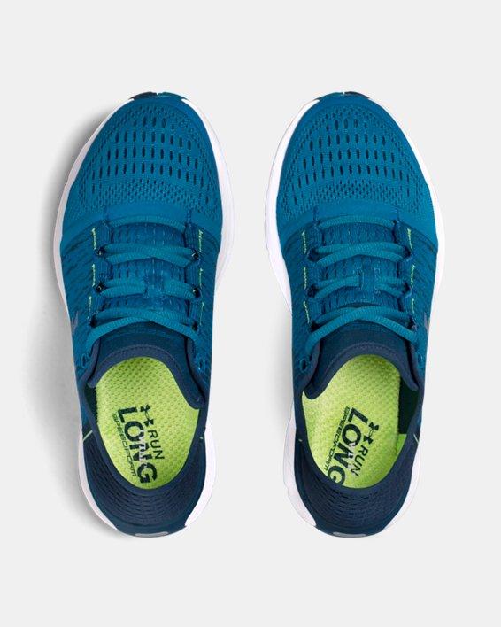 Women's UA SpeedForm® Gemini 3 Graphic Running Shoes, Blue, pdpMainDesktop image number 3