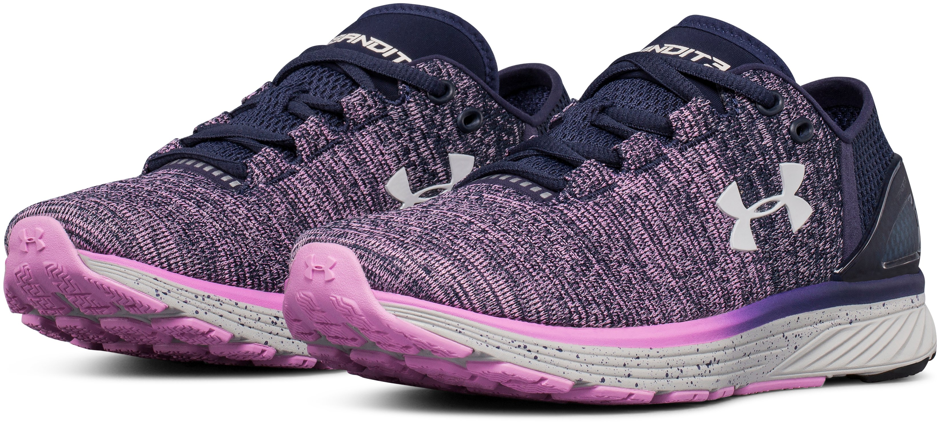 Women's UA Charged Bandit 3 Running Shoes, Midnight Navy, undefined