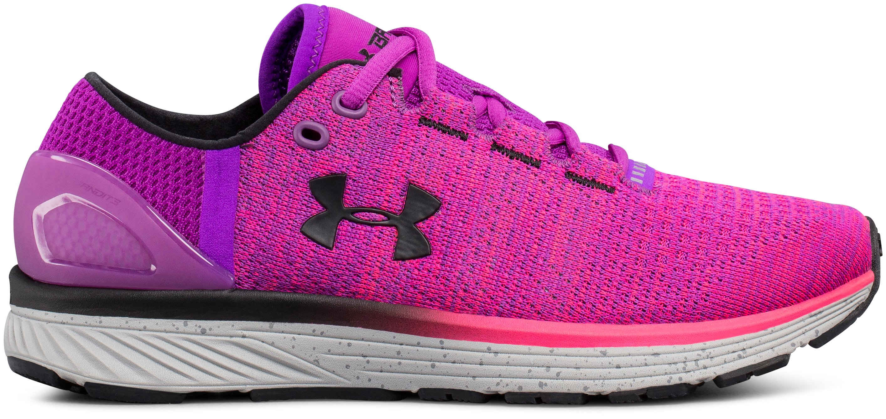 Women's UA Charged Bandit 3 Running Shoes, PURPLE RAVE