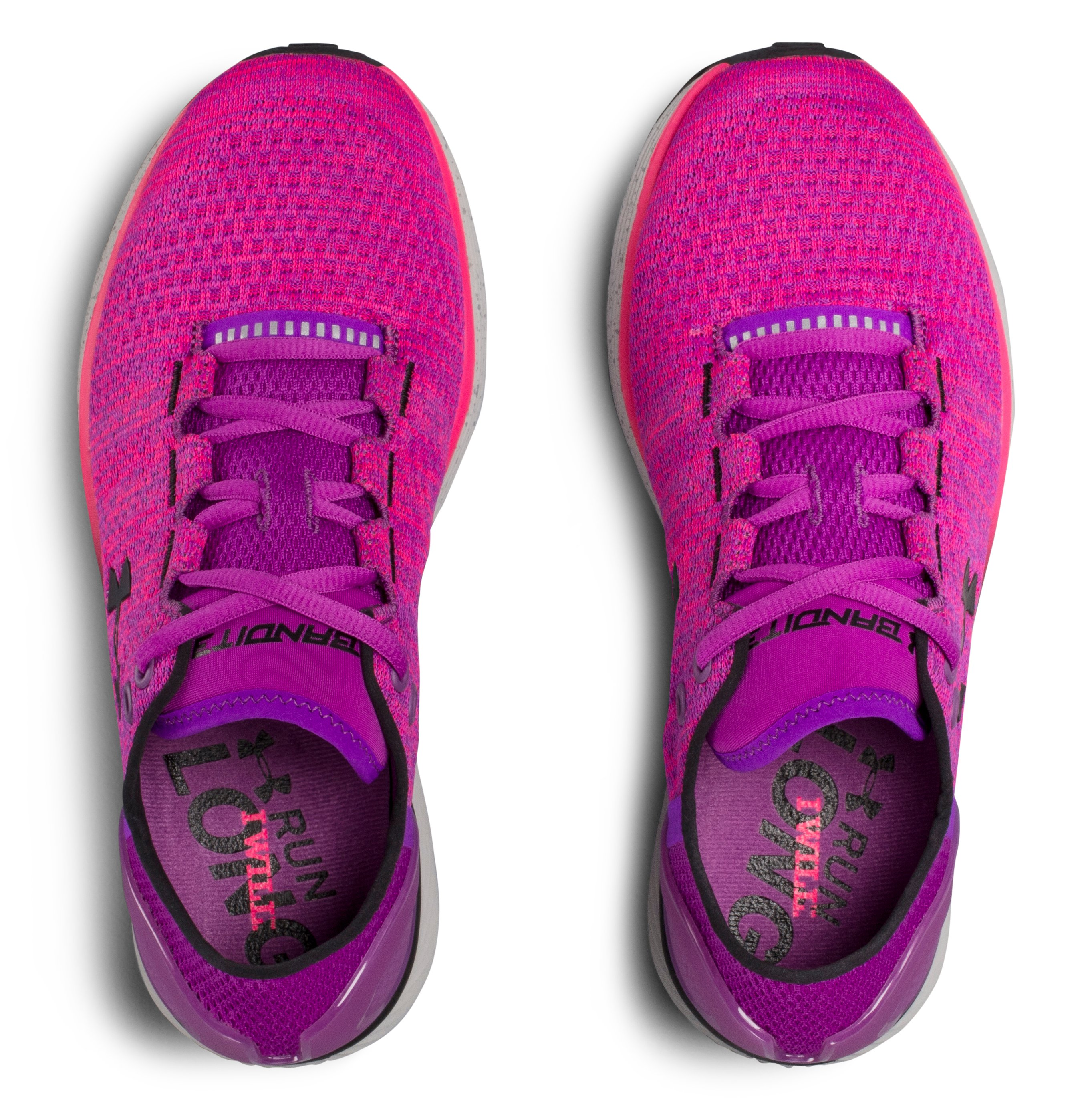 Women's UA Charged Bandit 3 Running Shoes, PURPLE RAVE, undefined