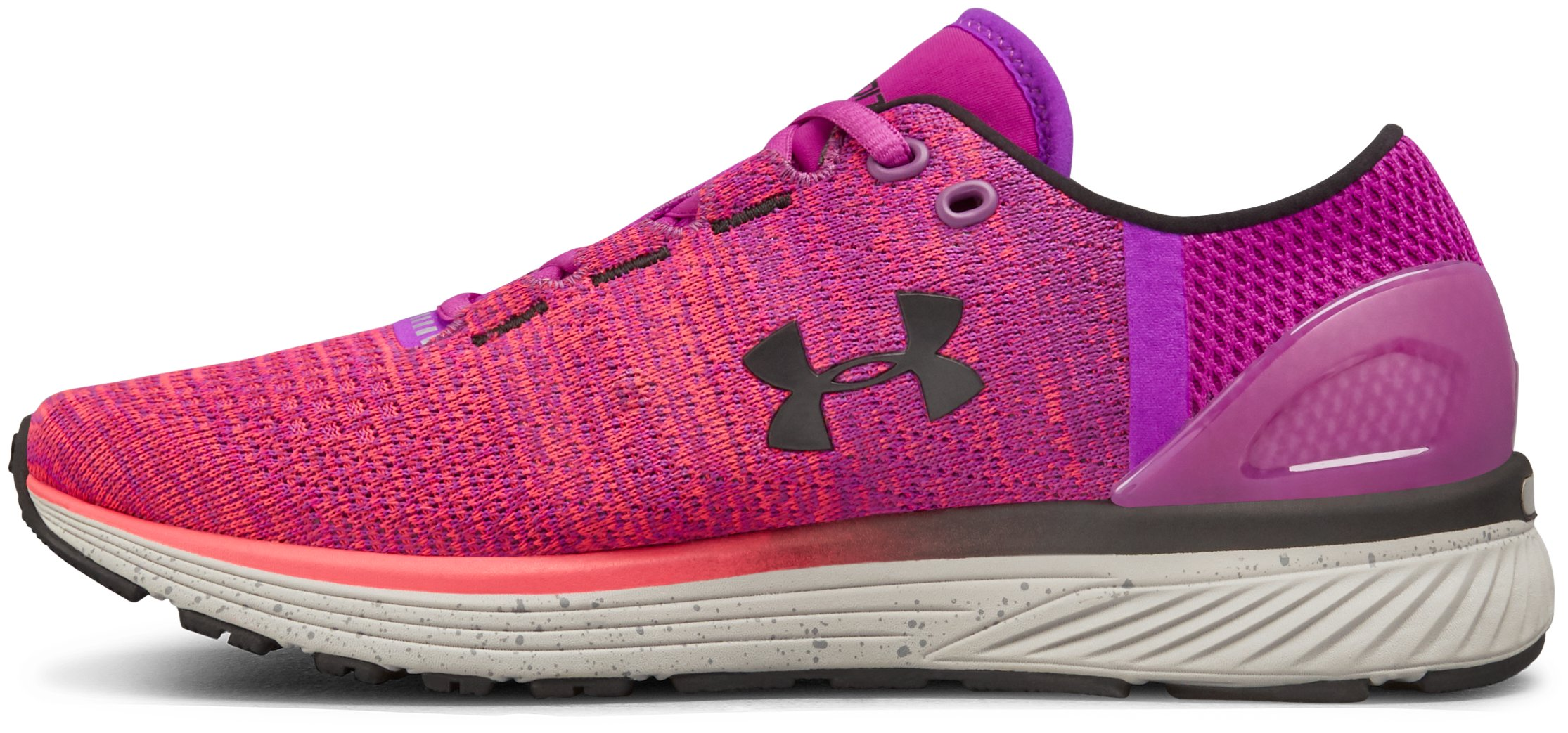 Women's UA Charged Bandit 3 – D Running Shoes, PURPLE RAVE,