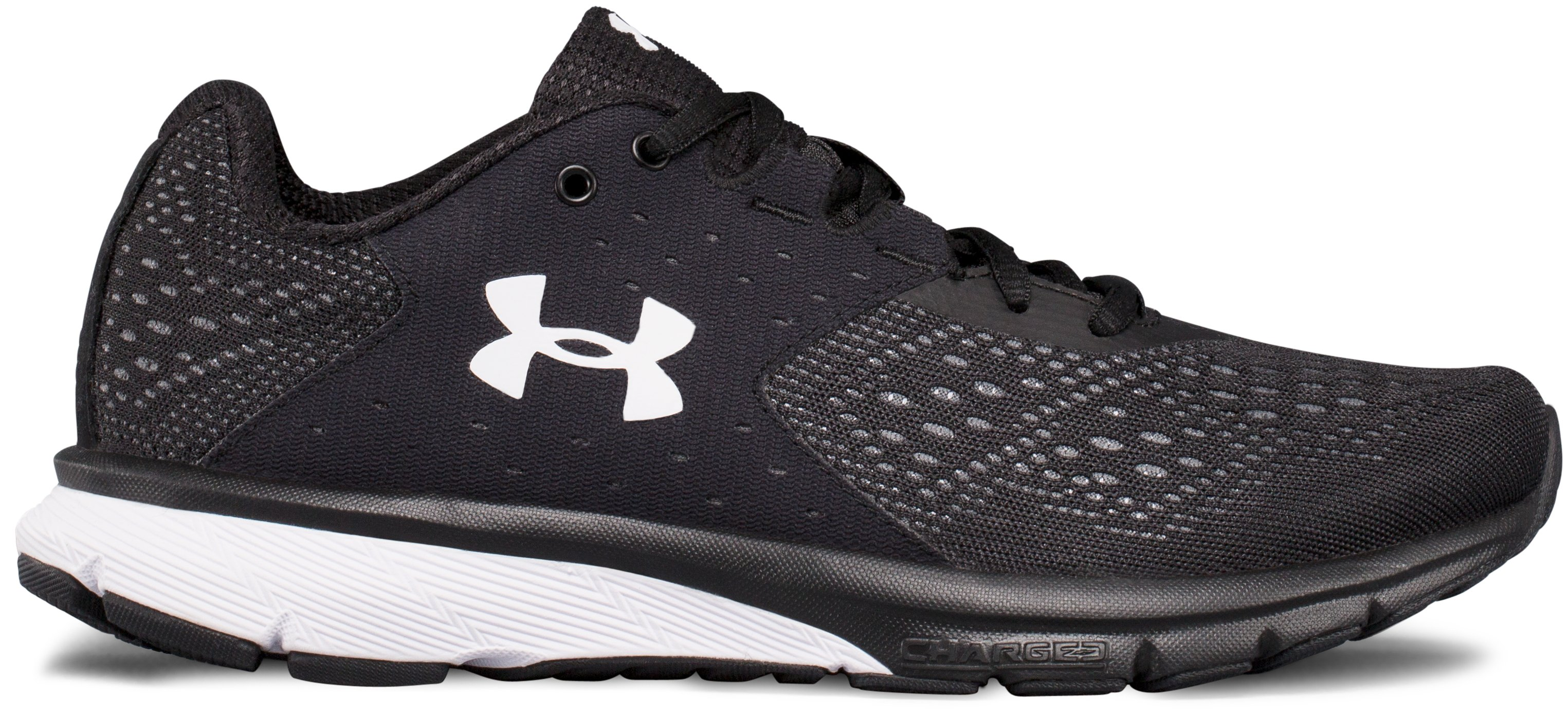 Women's UA Charged Rebel Running Shoes, Black , zoomed image
