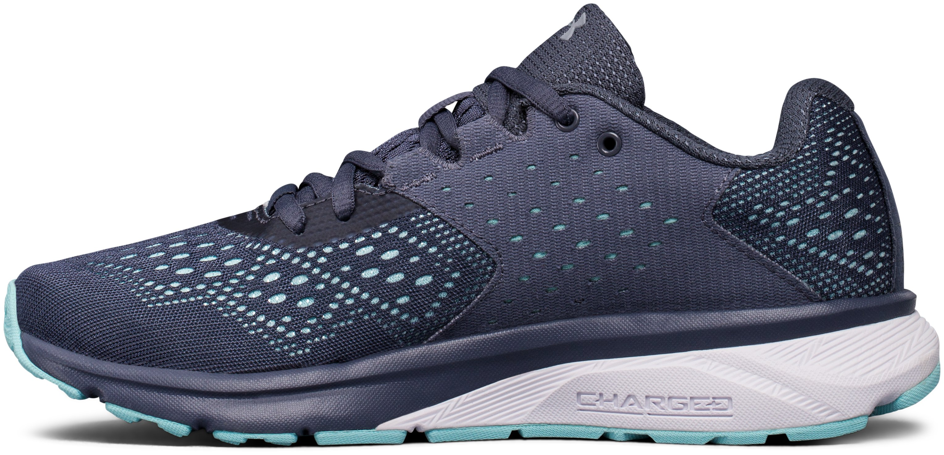 Women's UA Charged Rebel Running Shoes, APOLLO GRAY,