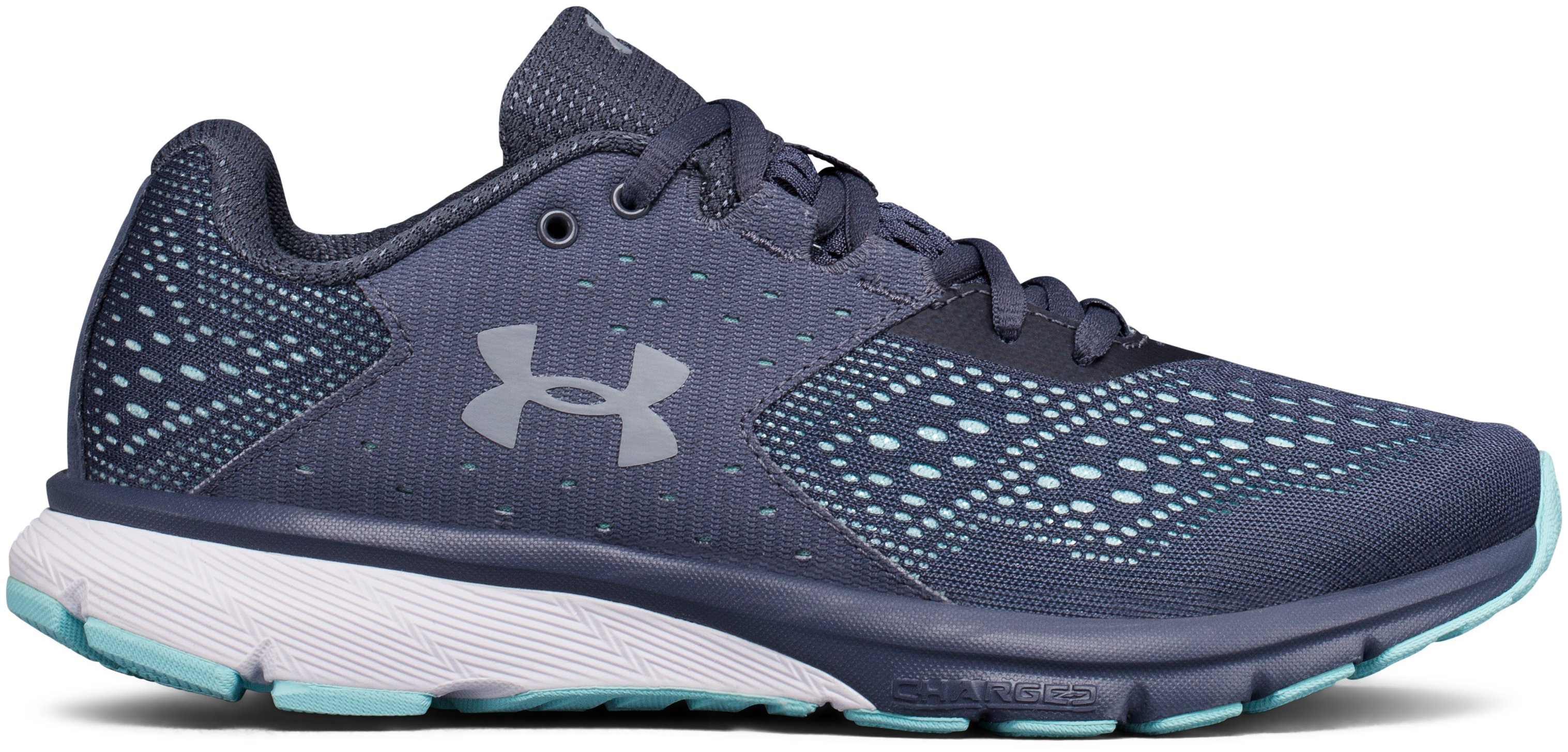 Women's UA Charged Rebel Running Shoes, APOLLO GRAY