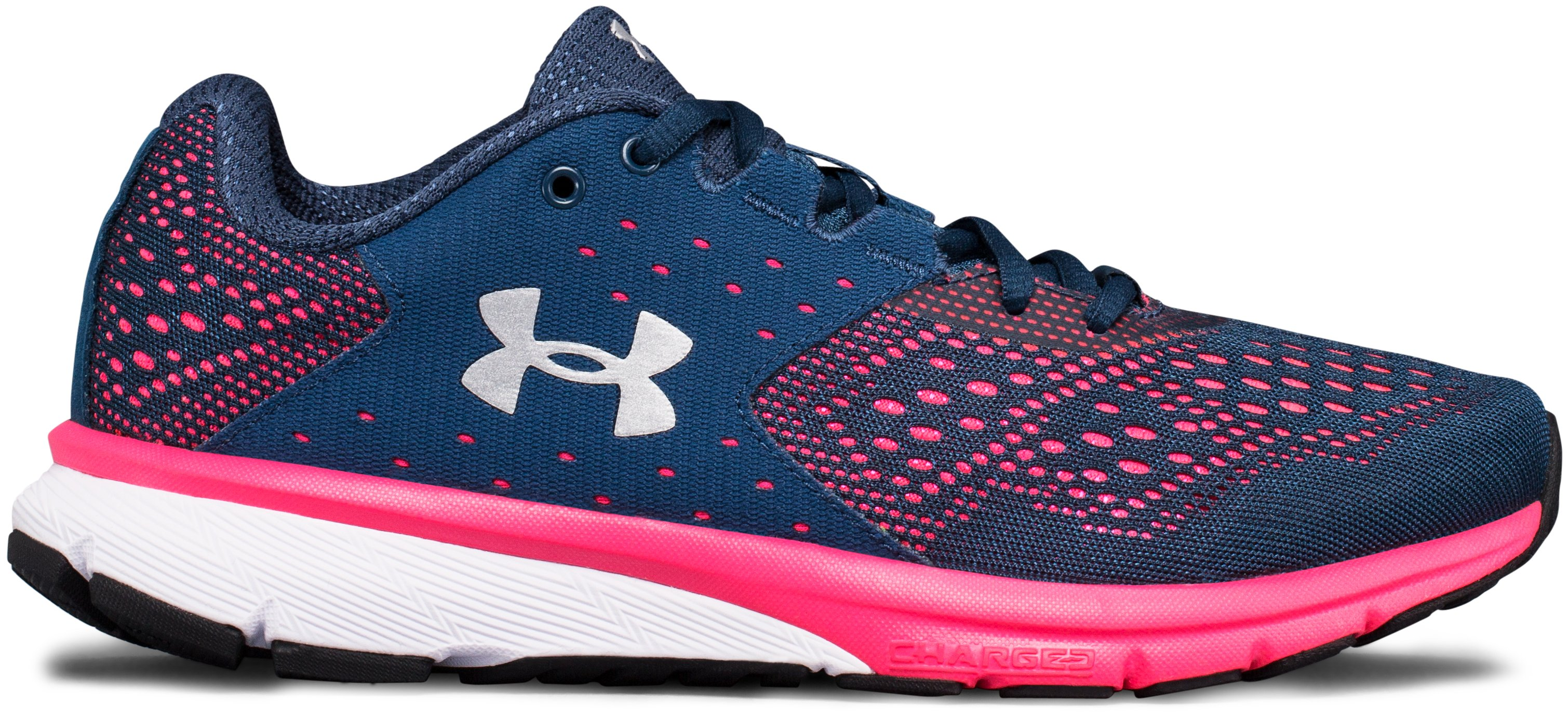 Women's UA Charged Rebel Running Shoes, TRUE INK