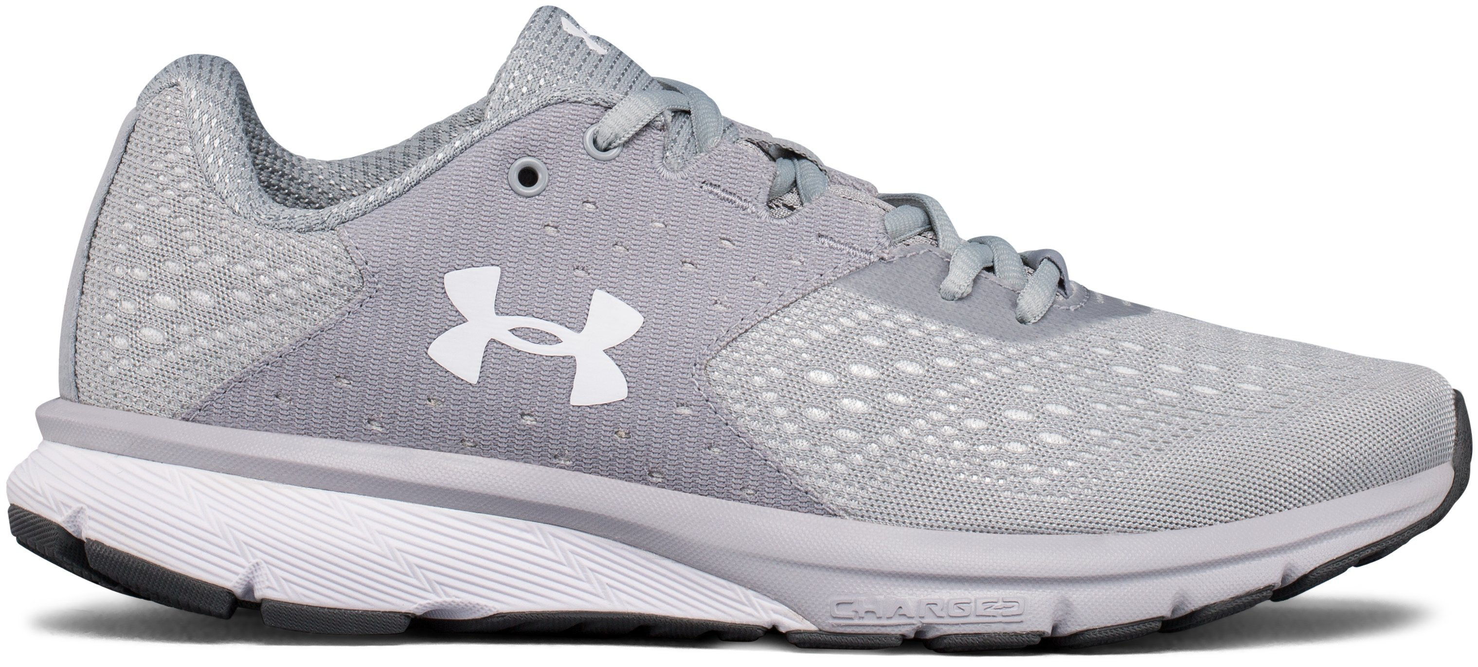 Women's UA Charged Rebel Running Shoes, OVERCAST GRAY
