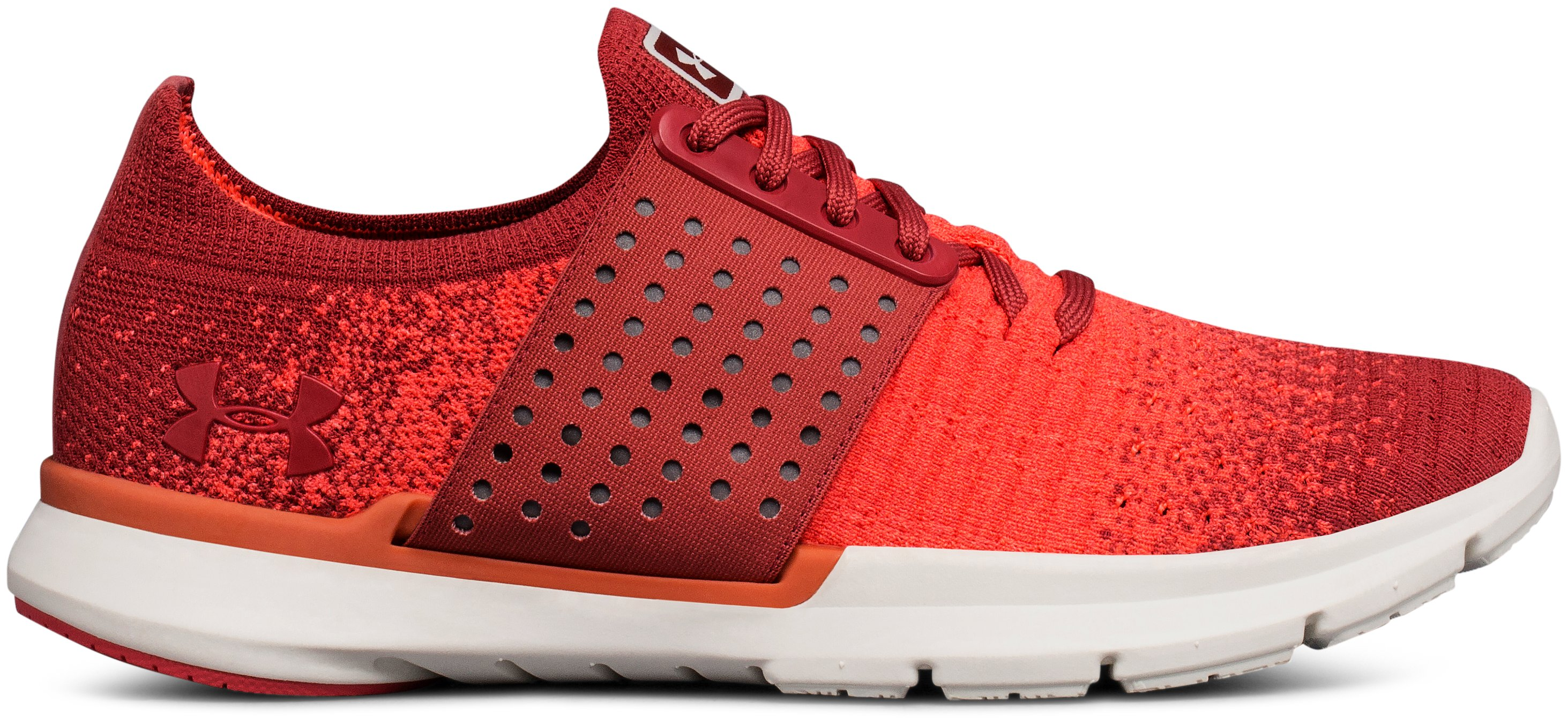 Women's UA Threadborne Slingwrap Fade Running Shoes, RUSTIC RED