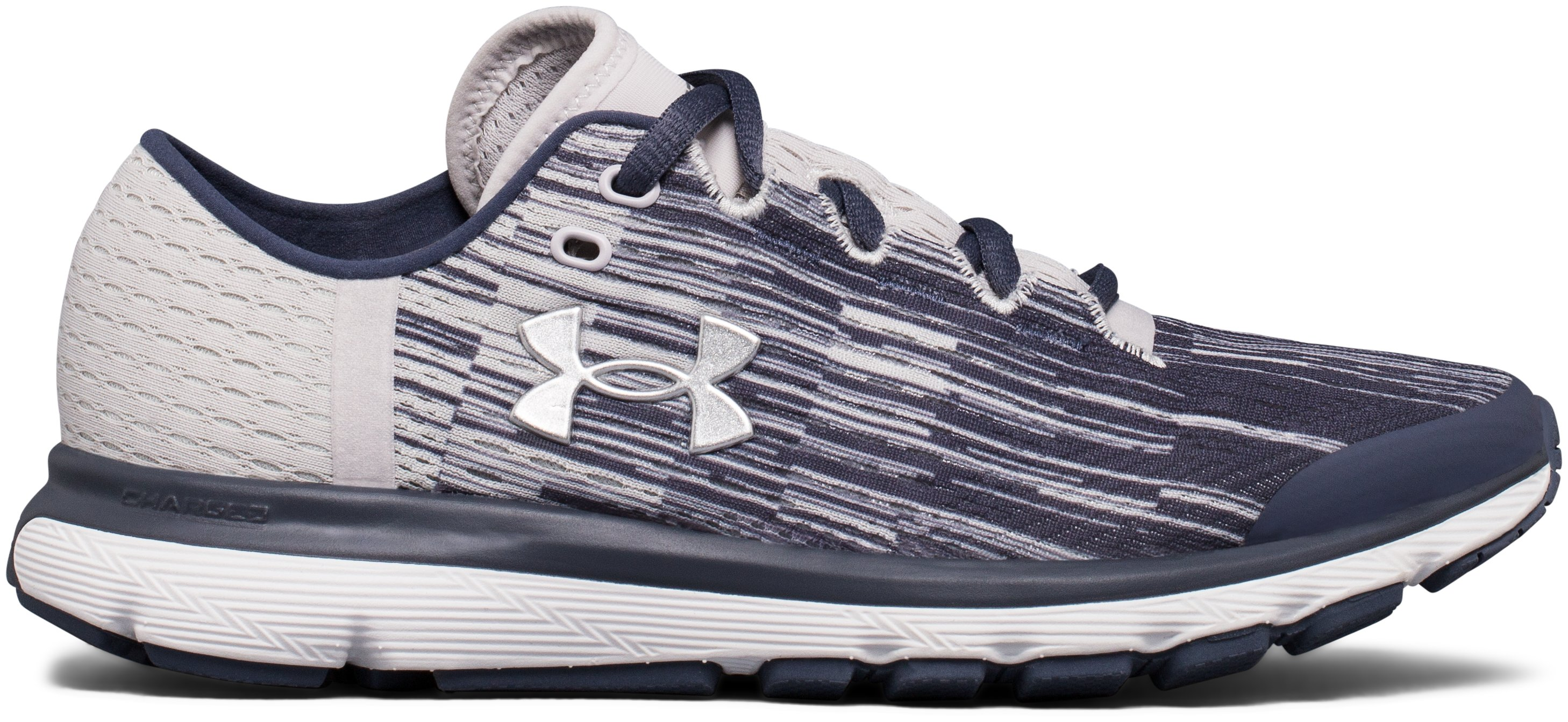 Women's UA SpeedForm® Velociti Graphic Running Shoes, APOLLO GRAY