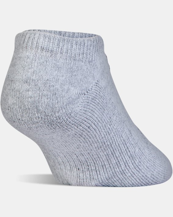 UA Charged Cotton® 2.0 No Show Socks - 6-Pack, Gray, pdpMainDesktop image number 6