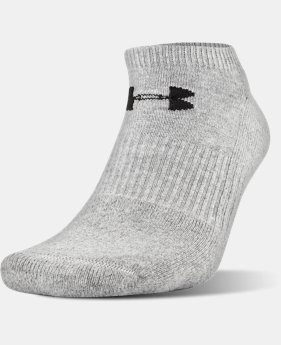 UA Charged Cotton® 2.0 No Show Socks – 6-Pack  3  Colors Available $29.99