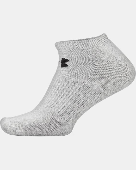 UA Charged Cotton® 2.0 No Show Socks - 6-Pack, Gray, pdpMainDesktop image number 8
