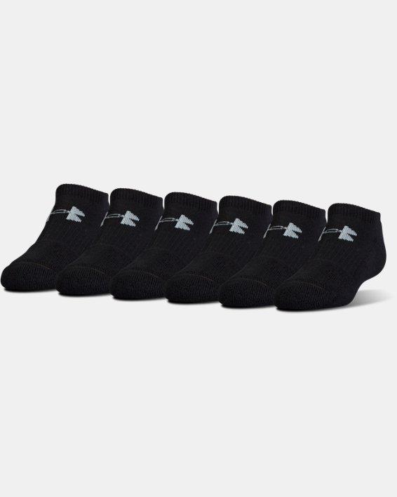 UA Charged Cotton® 2.0 No Show Socks - 6-Pack, Black, pdpMainDesktop image number 0
