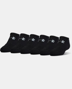 UA Charged Cotton® 2.0 No Show Socks – 6-Pack  2 Colors $19