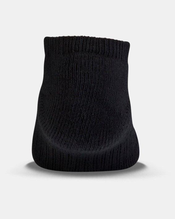 UA Charged Cotton® 2.0 No Show Socks - 6-Pack, Black, pdpMainDesktop image number 2