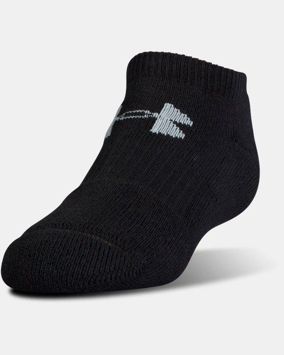 UA Charged Cotton® 2.0 No Show Socks - 6-Pack, Black, pdpMainDesktop image number 1