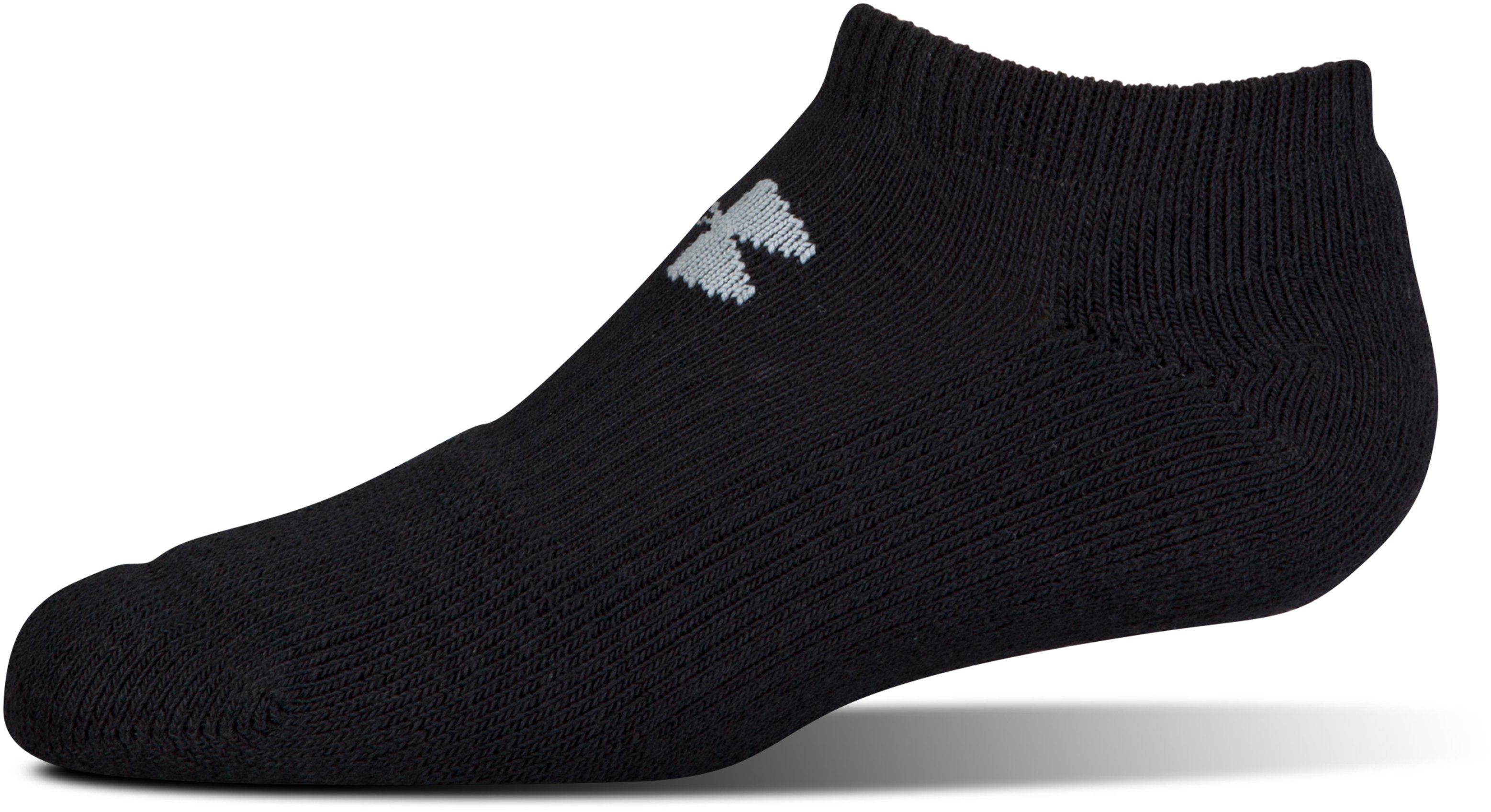 Men's UA Charged Cotton® No Show Socks – 6-Pack, Black