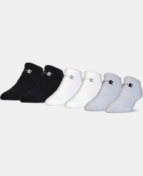 Men's UA Charged Cotton® No Show Socks – 6-Pack  1 Color $19