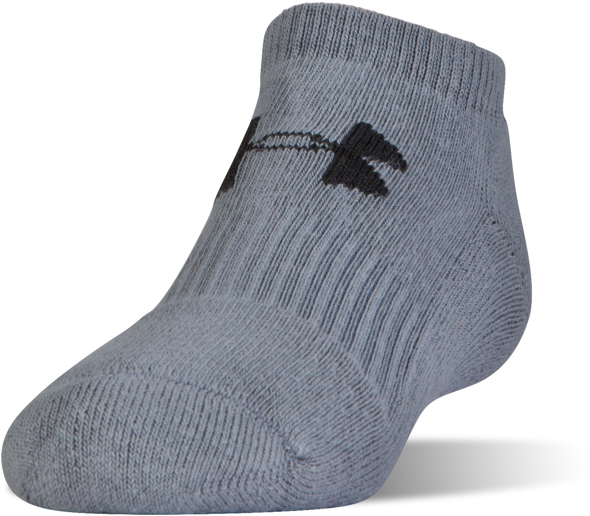 Men's UA Charged Cotton® No Show Socks – 6-Pack, True Gray Heather,