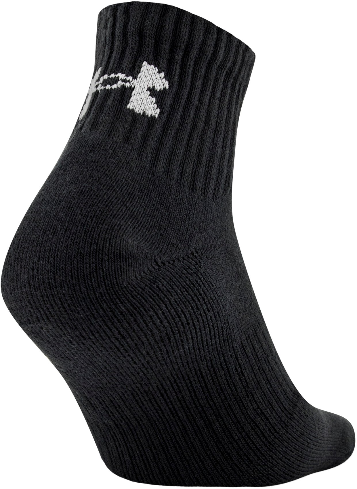 UA Charged Cotton® 2.0 Quarter Length Socks – 6-Pack, Black ,