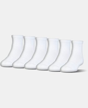 Best Seller UA Charged Cotton® 2.0 Quarter Length Socks – 6-Pack  2 Colors $20
