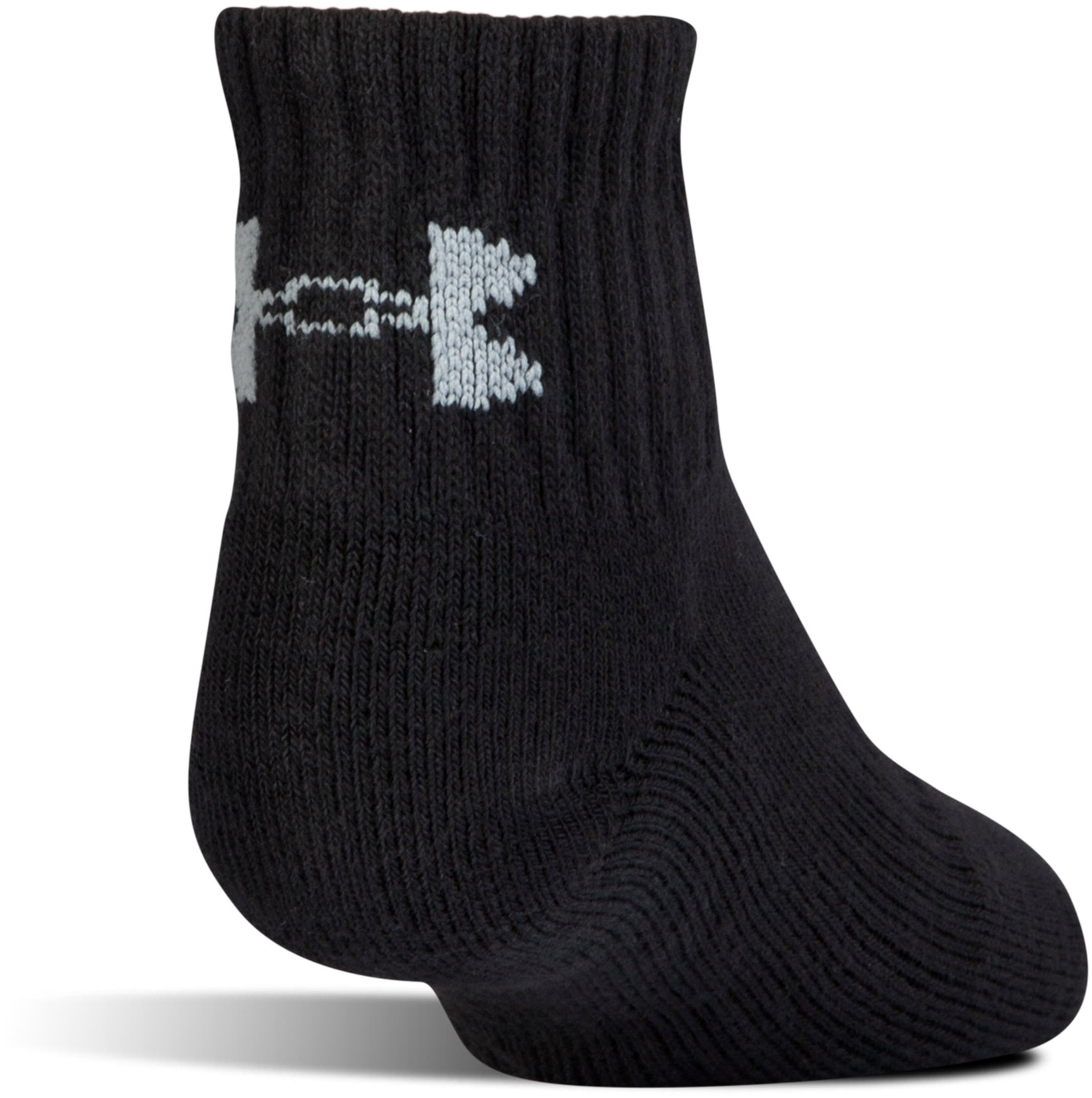 Kids' UA Charged Cotton® 2.0 Quarter Socks – 6-Pack, Black ,