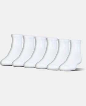 Kids' UA Charged Cotton® 2.0 Quarter Socks – 6-Pack  1 Color $18.99